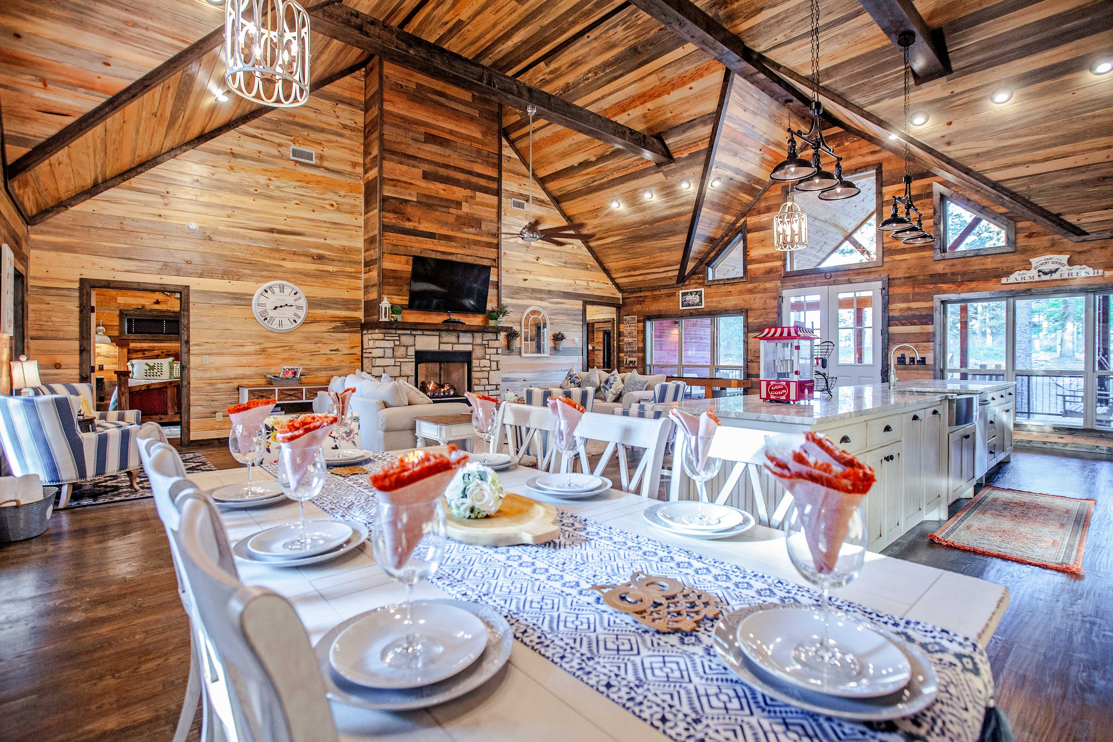 Host memorable family meals at this chic 8-person dining table.