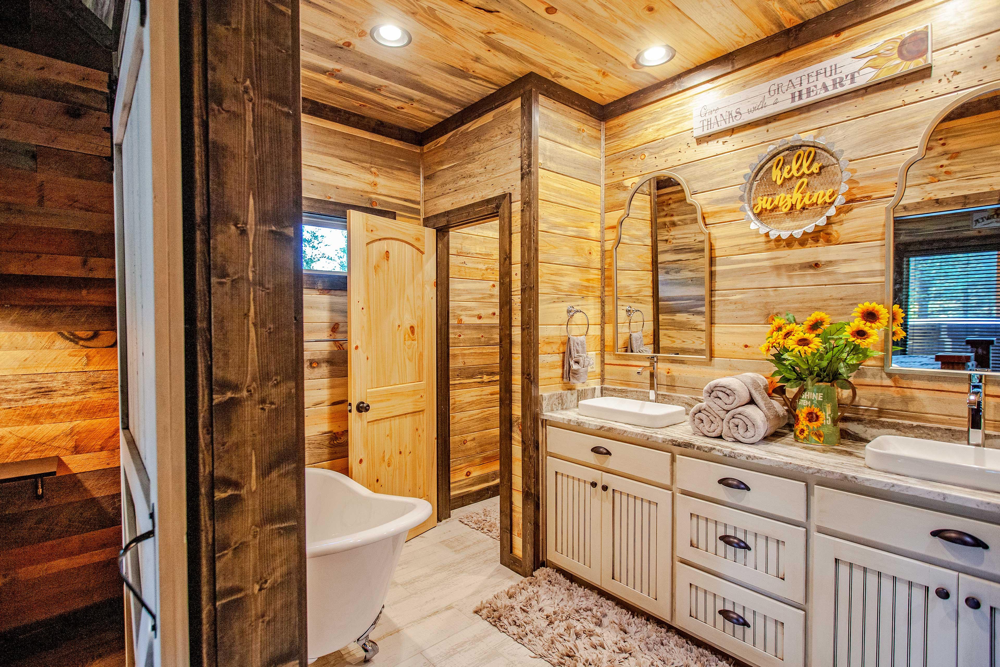 All 4 bedrooms boast private en-suite baths.