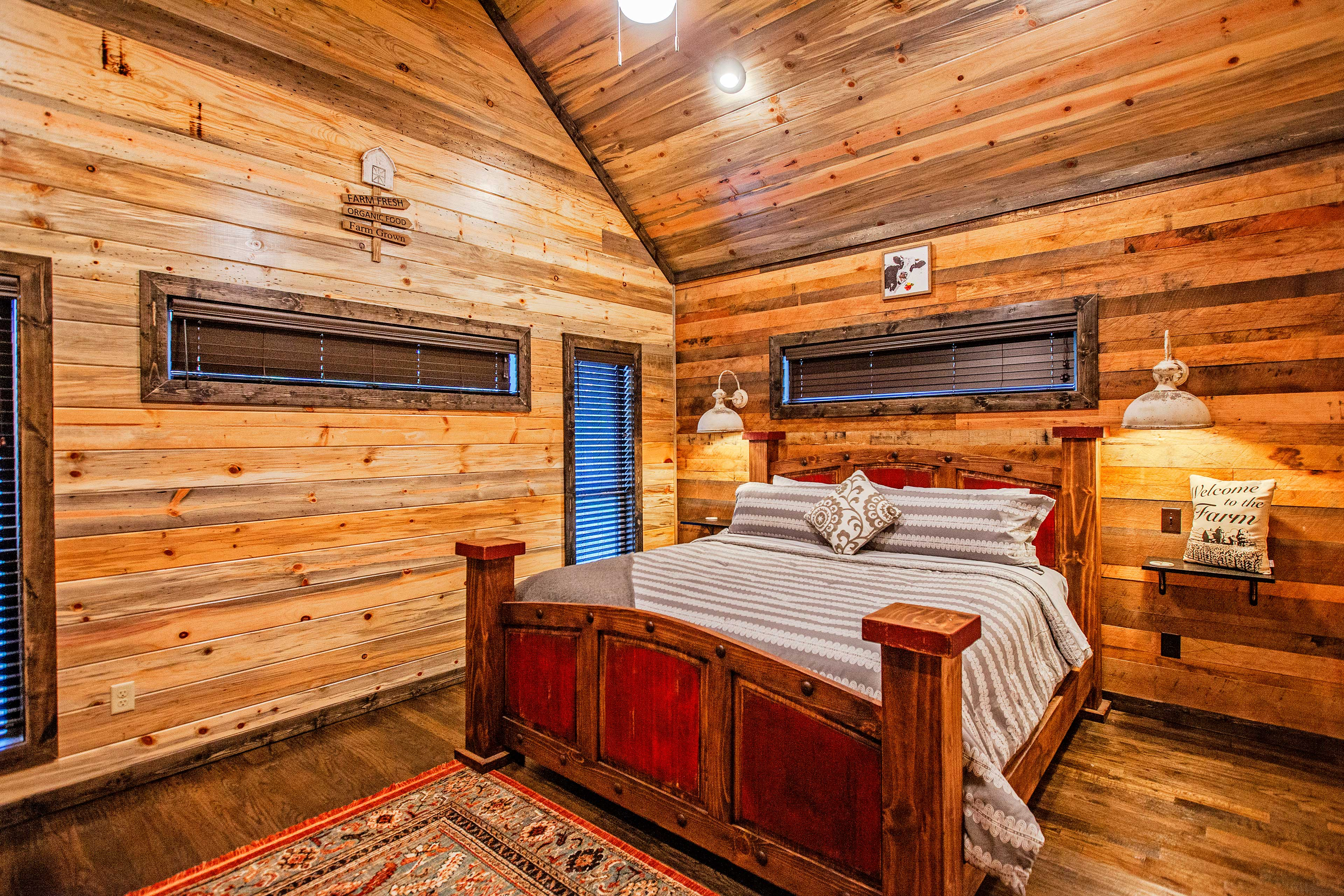 Finally, you'll find another king bed in the fourth bedroom.