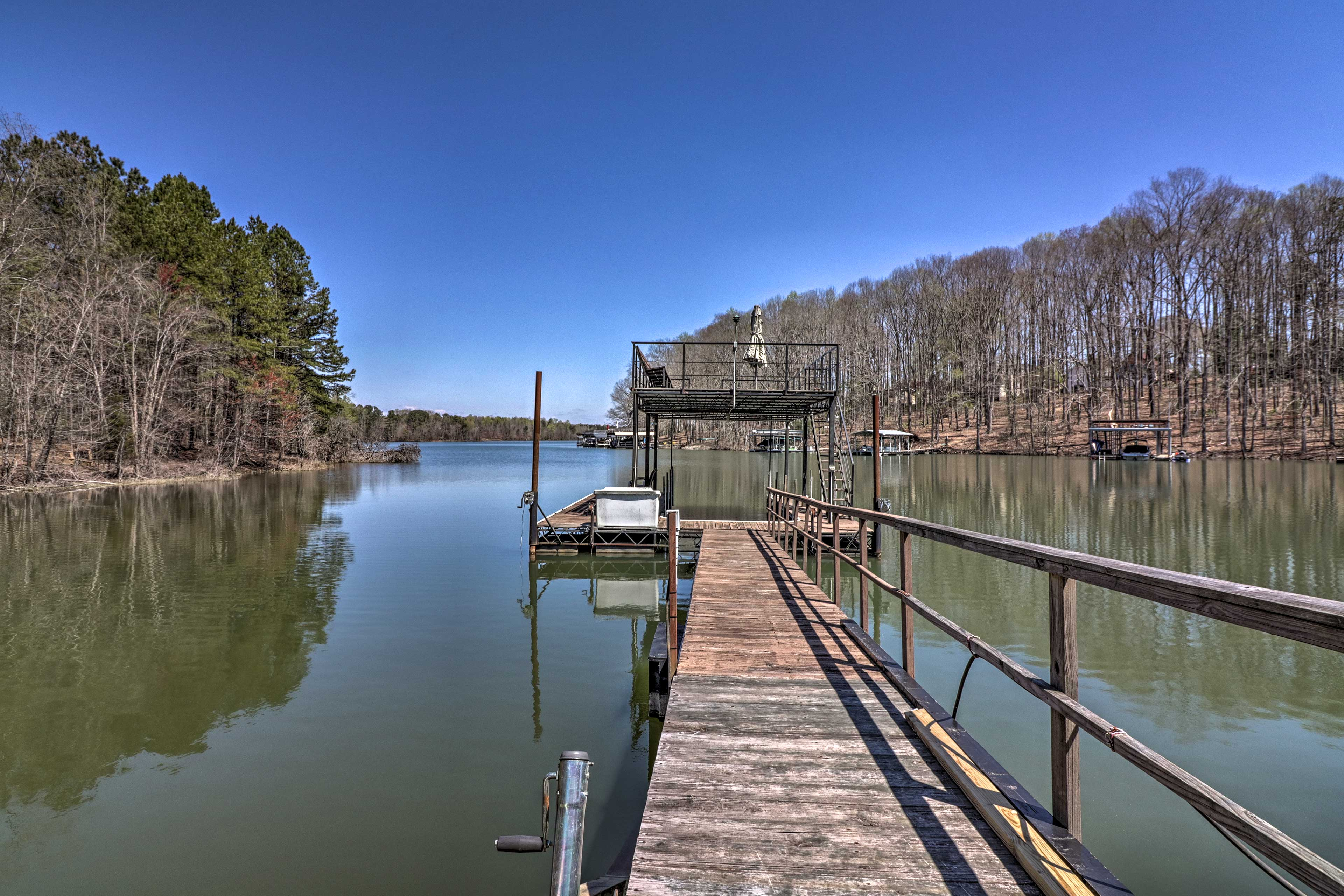 Guests will enjoy access to a private dock with a sunbathing deck.