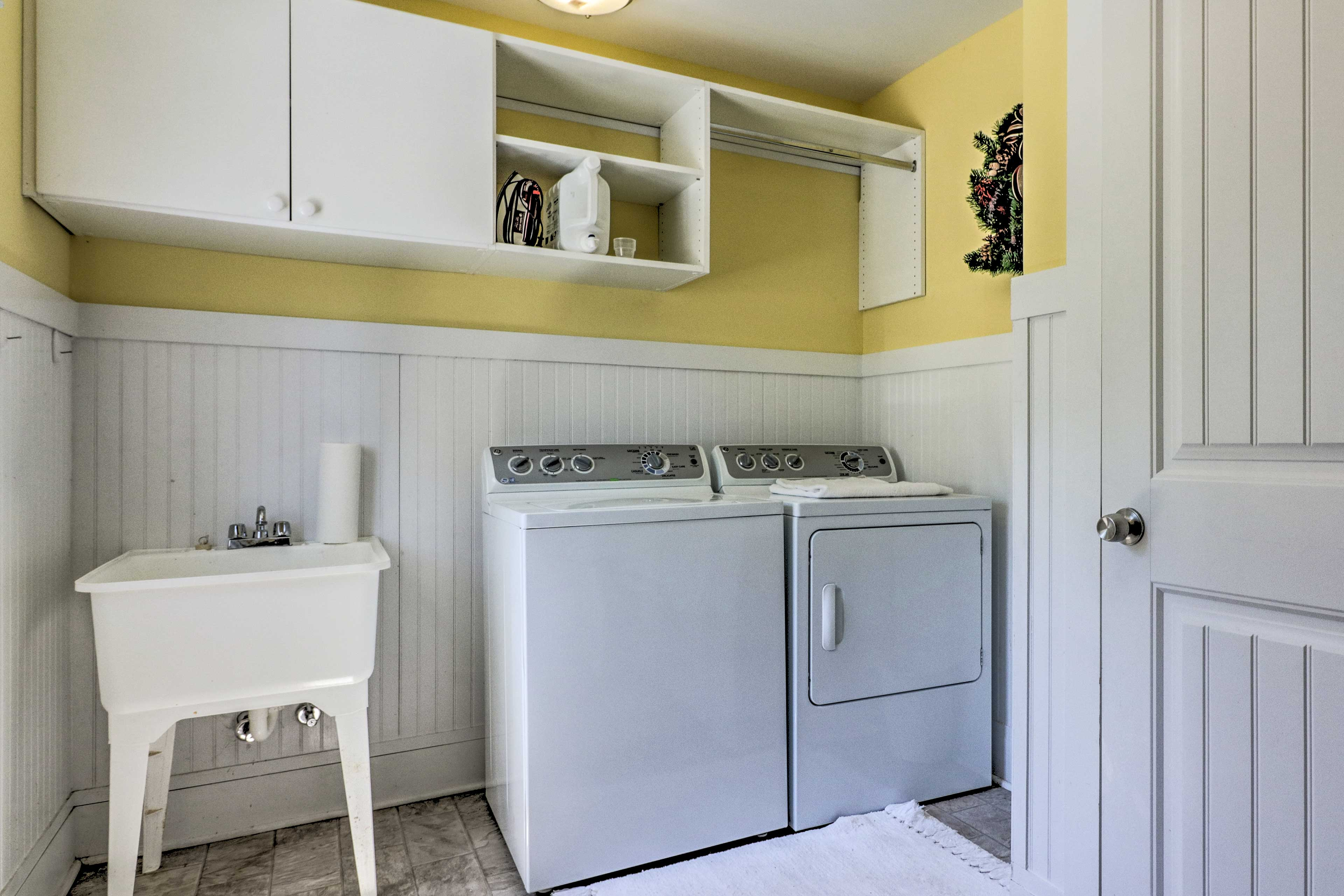In-unit laundry machines are super convenient for large groups and families.