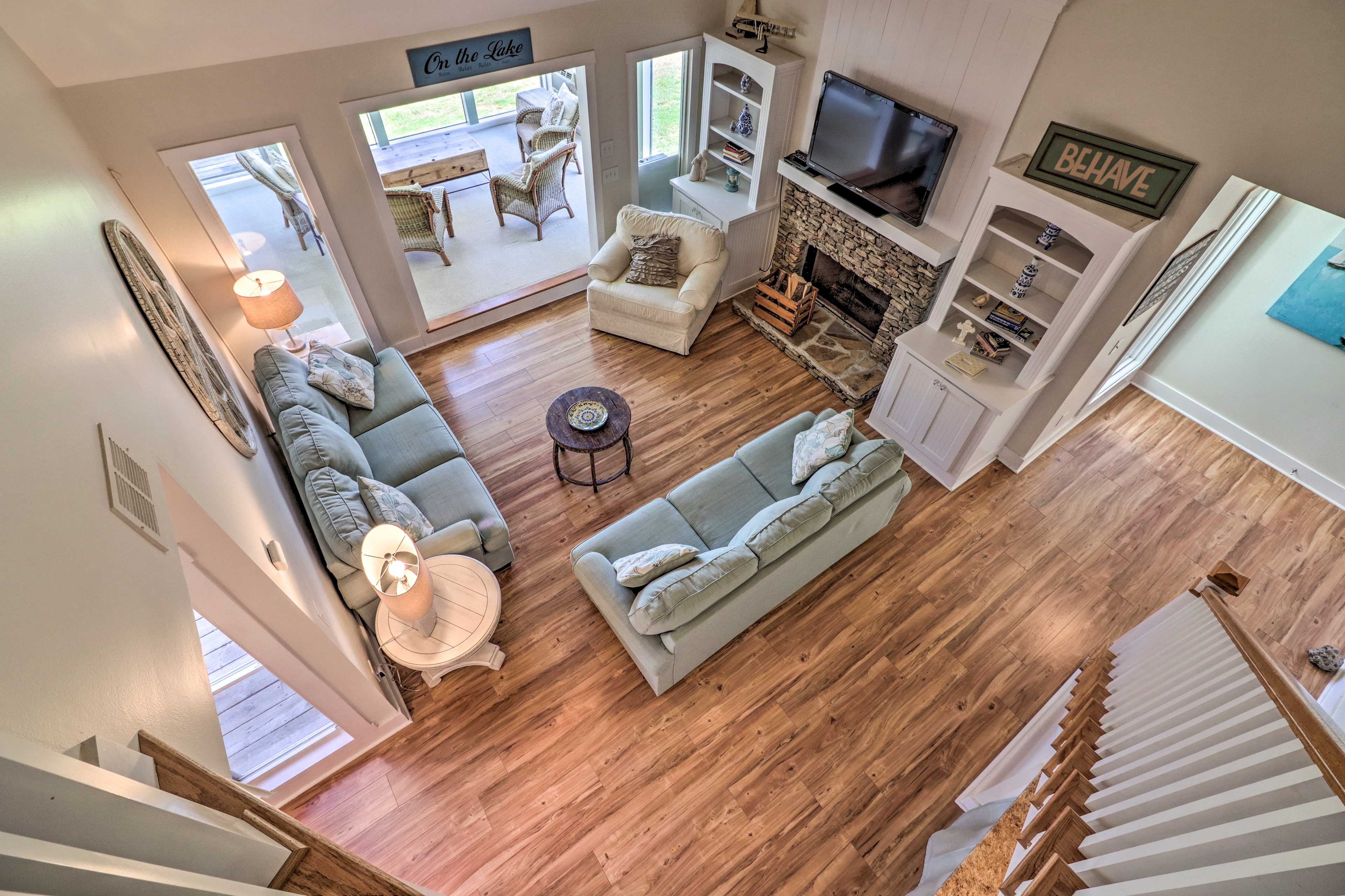 The home's interior is just as wonderful as the exterior!