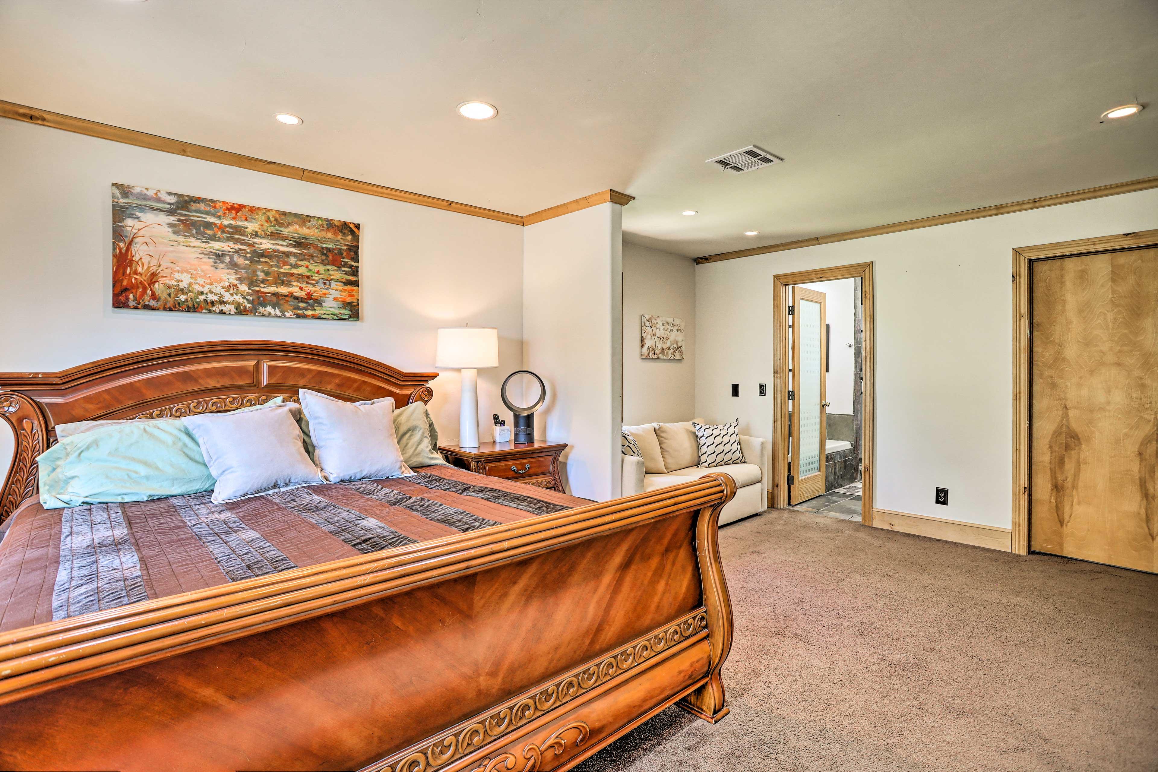 Bedroom 1 | King Bed | Full Sleeper Sofa