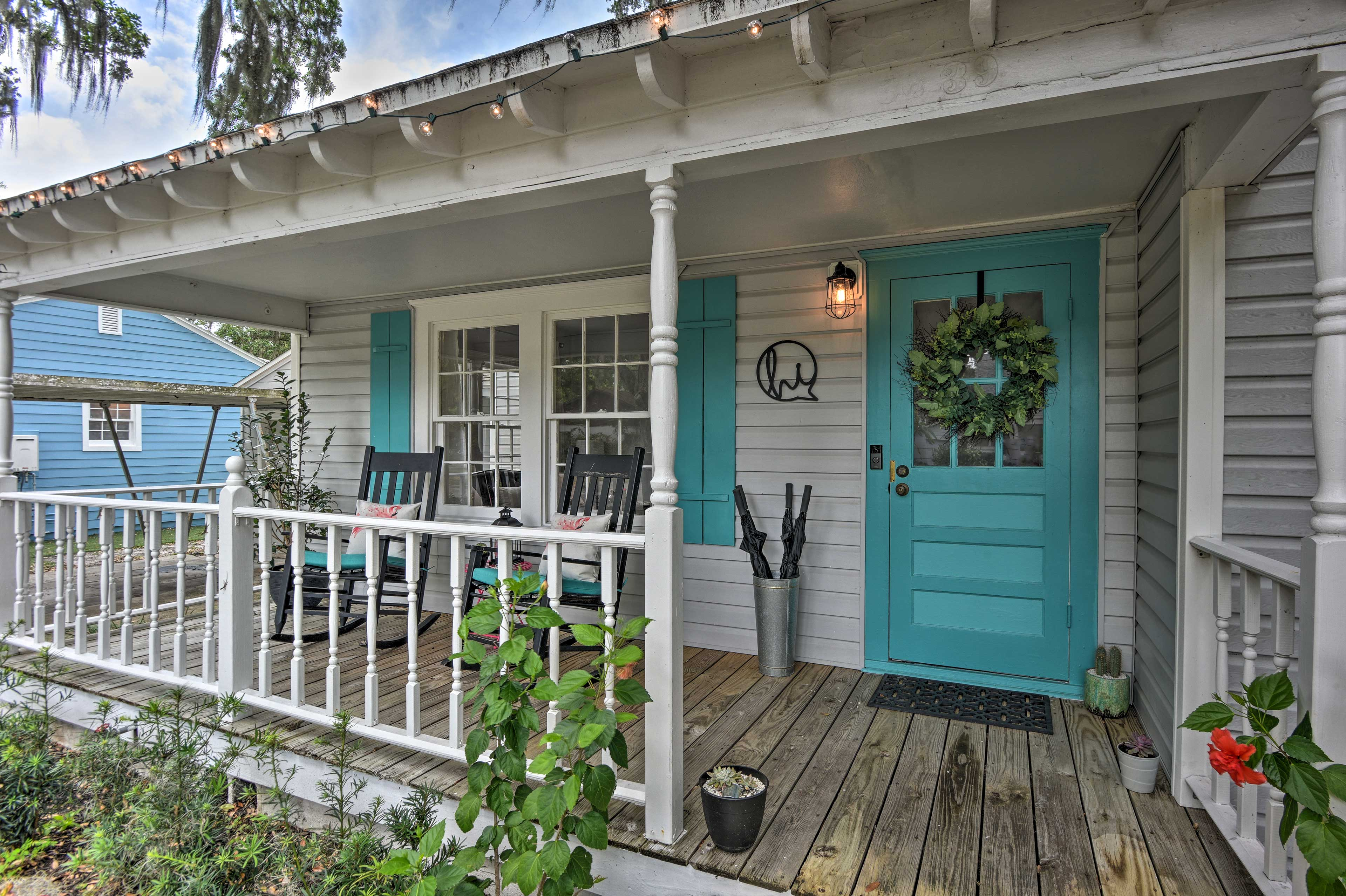 This 2-bed, 1-bath home sleeps 4 guests comfortably.