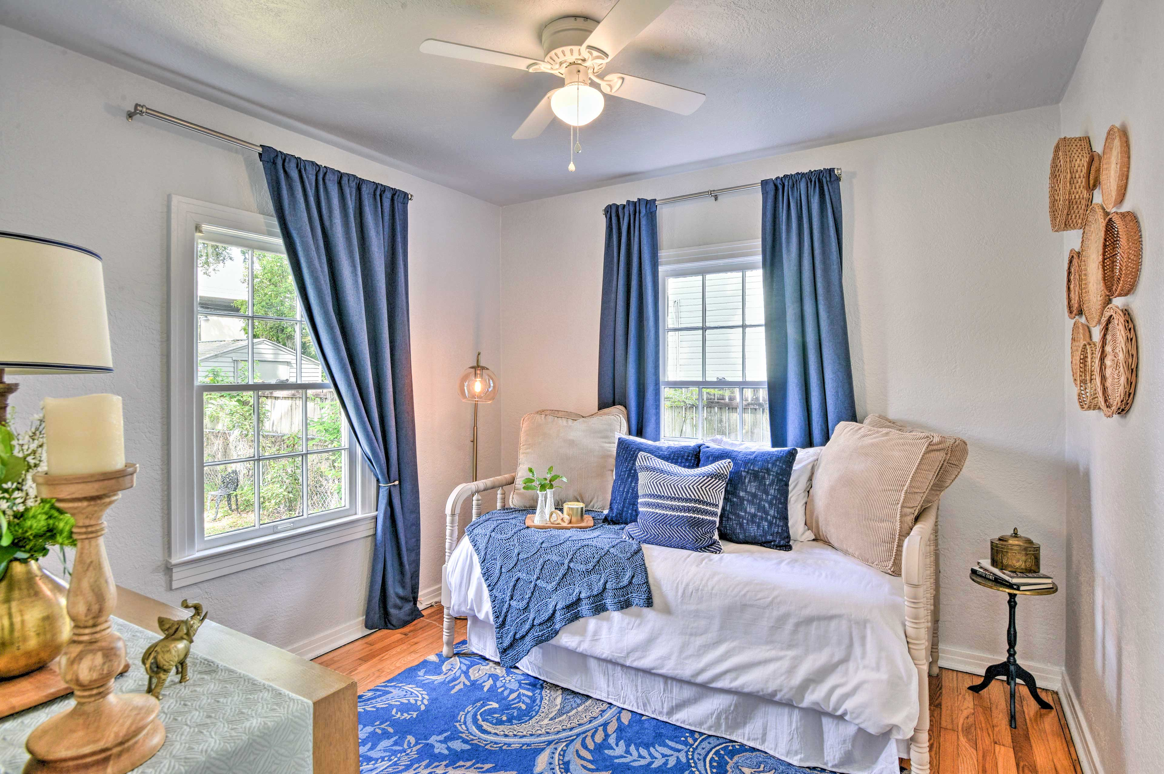 The second bedroom features a twin bed and a twin trundle.
