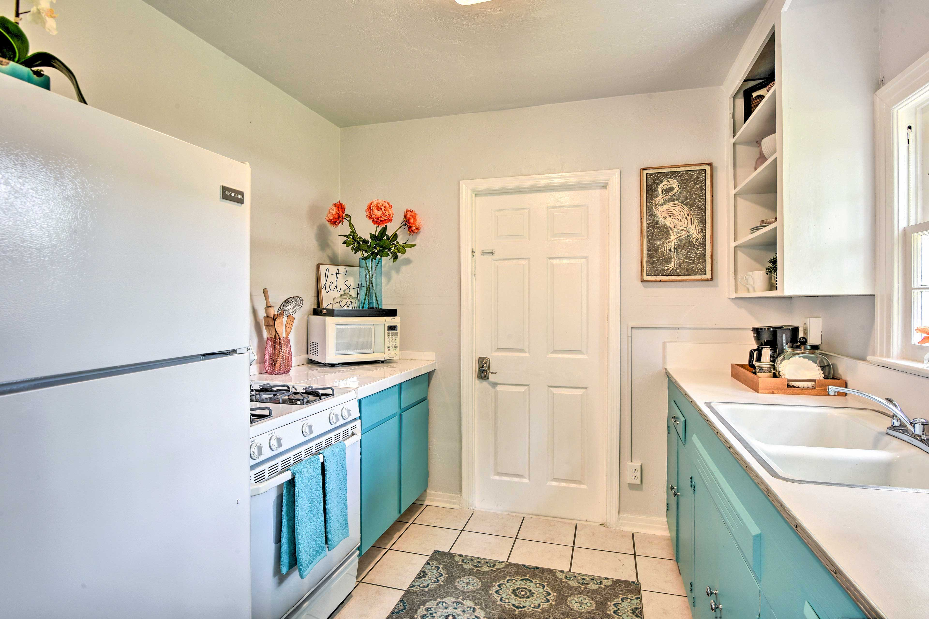 The kitchen is fully equipped with everything you'll need.