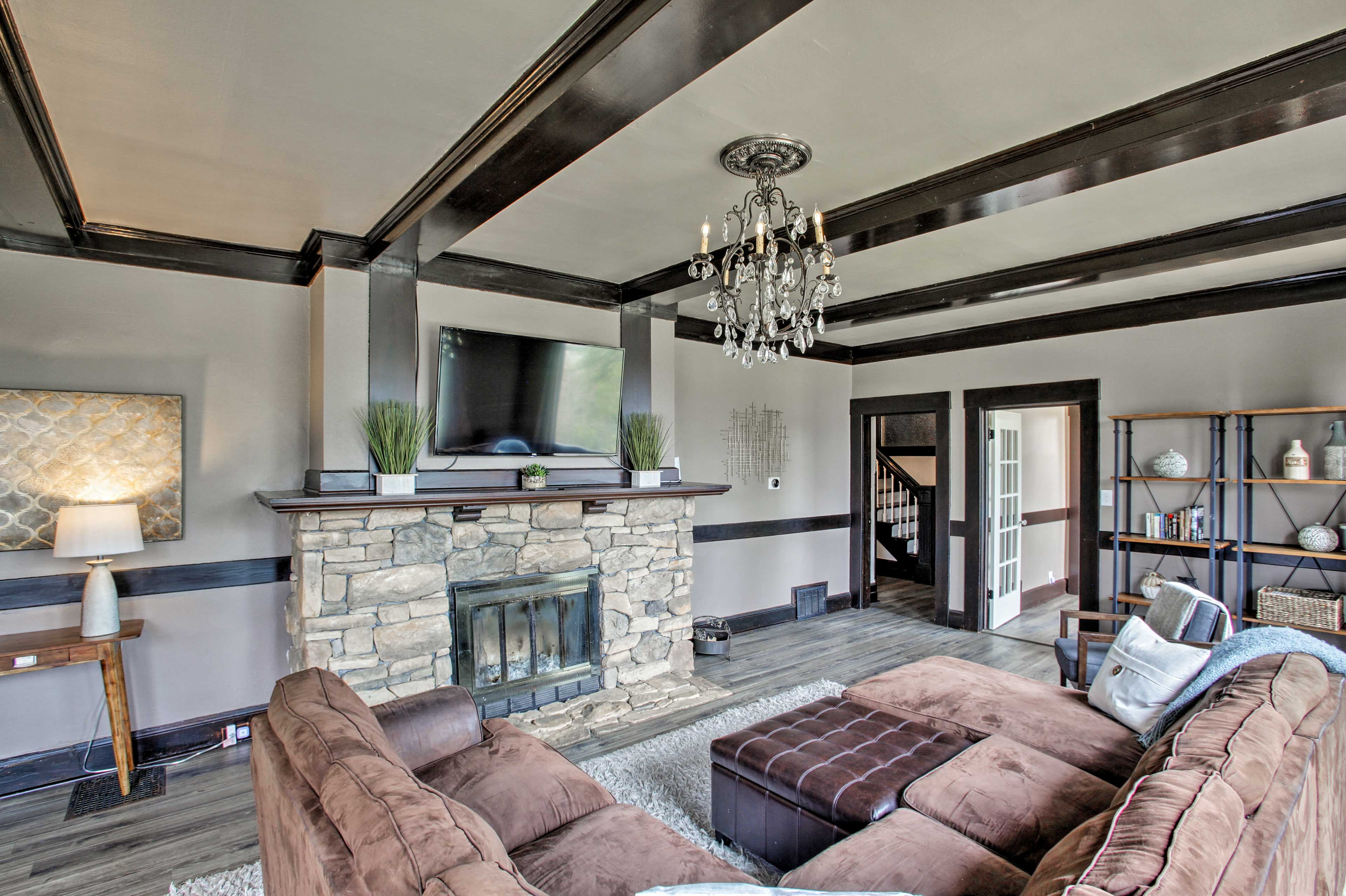 The interior is made up of over 2,600 square feet of living space.
