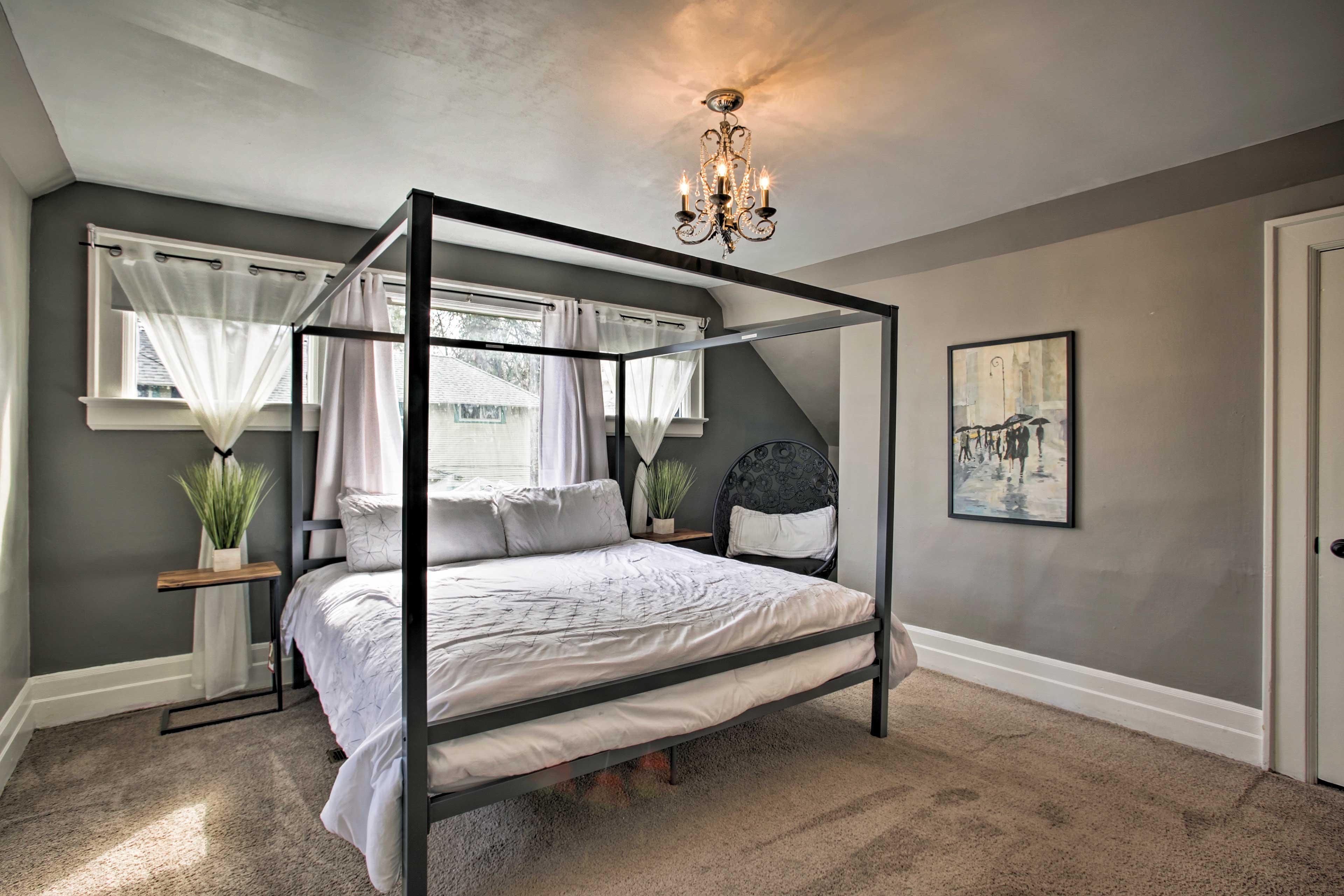 Each room features clean, elegant decor.