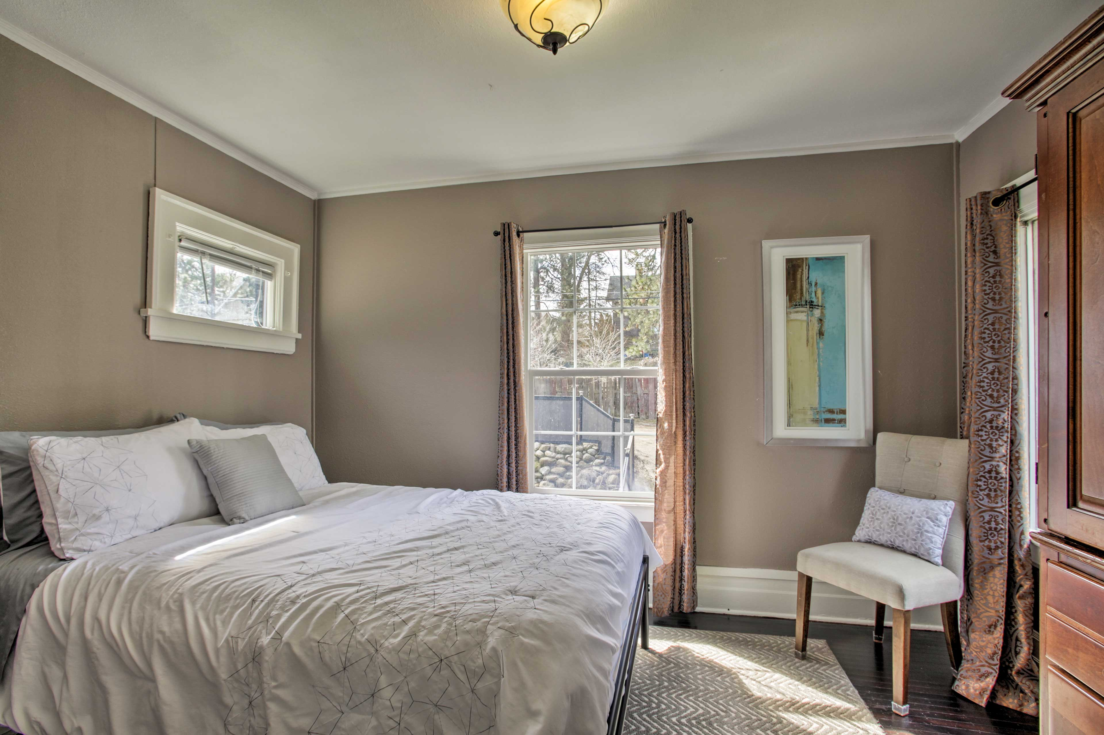 The second bedroom is perfect for 2 guests.