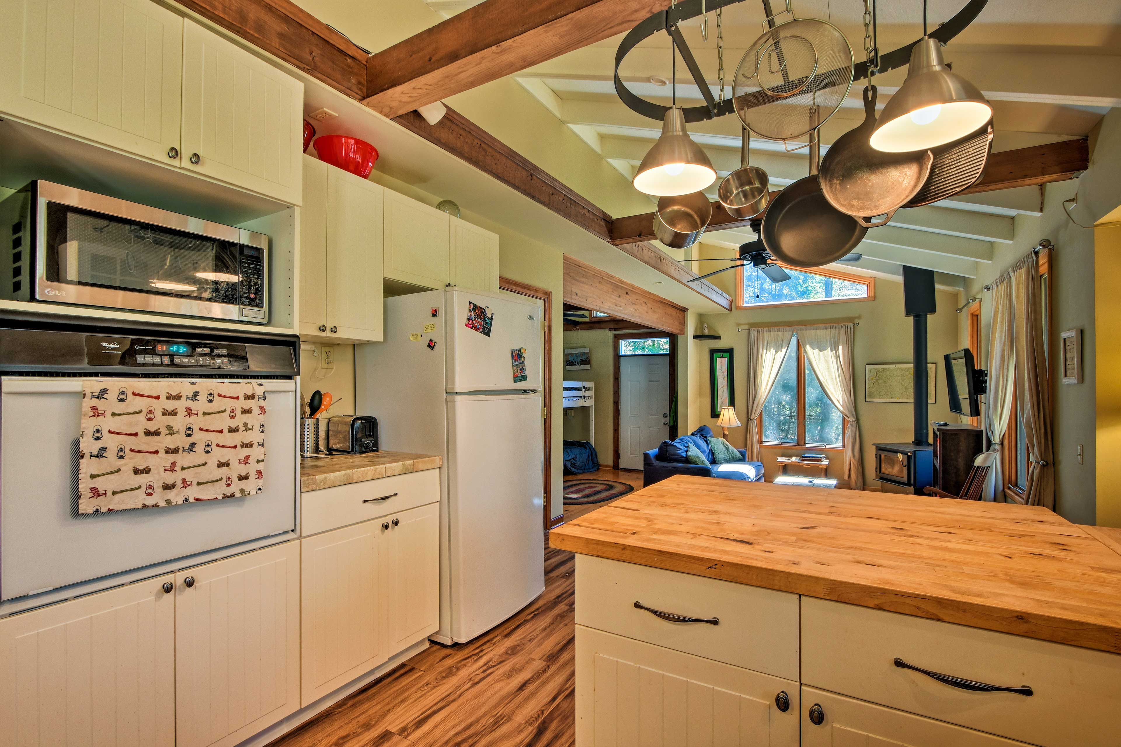The kitchen is fully equipped for cooking up your signature homemade dish.