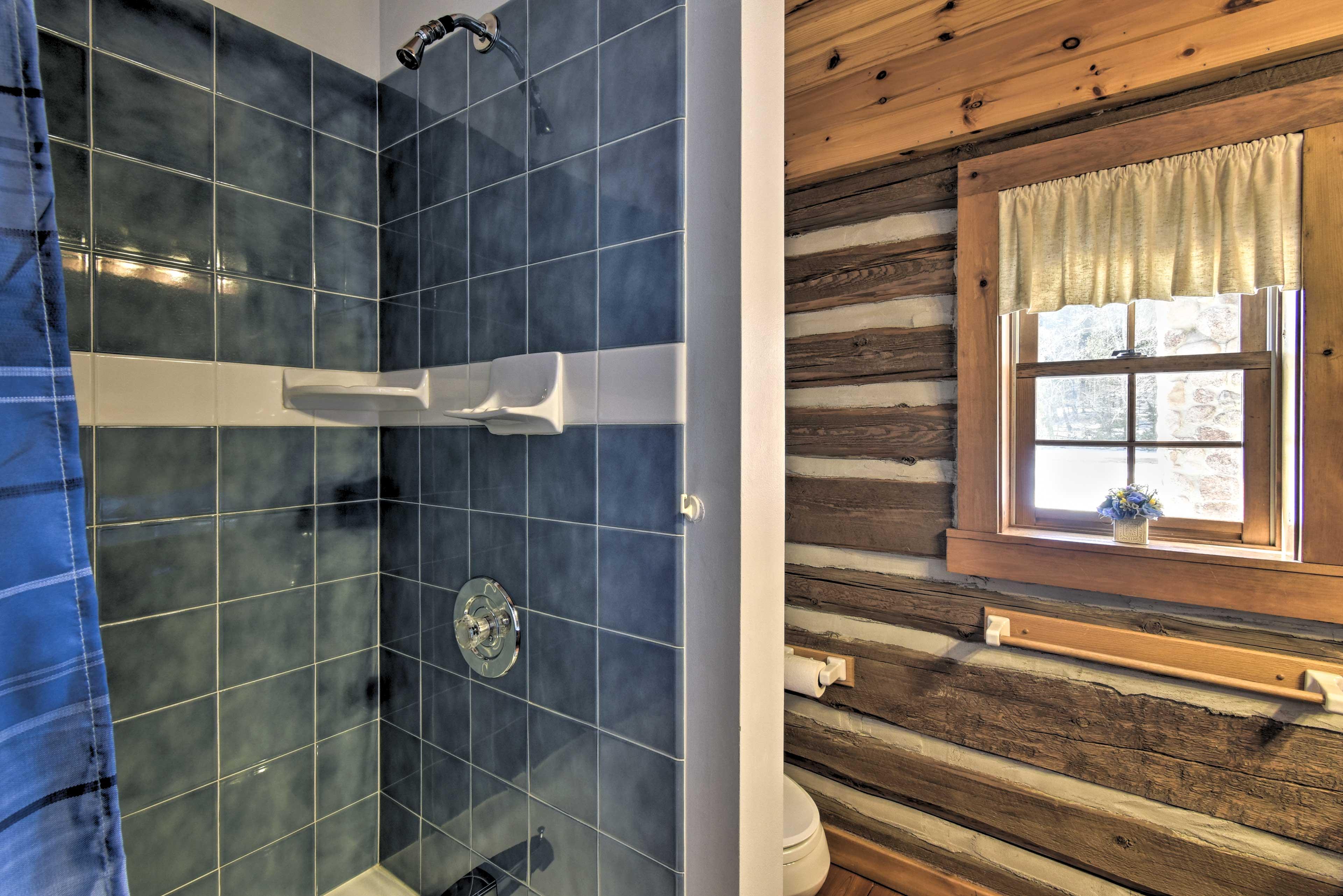 Bathroom 1: walk-in shower
