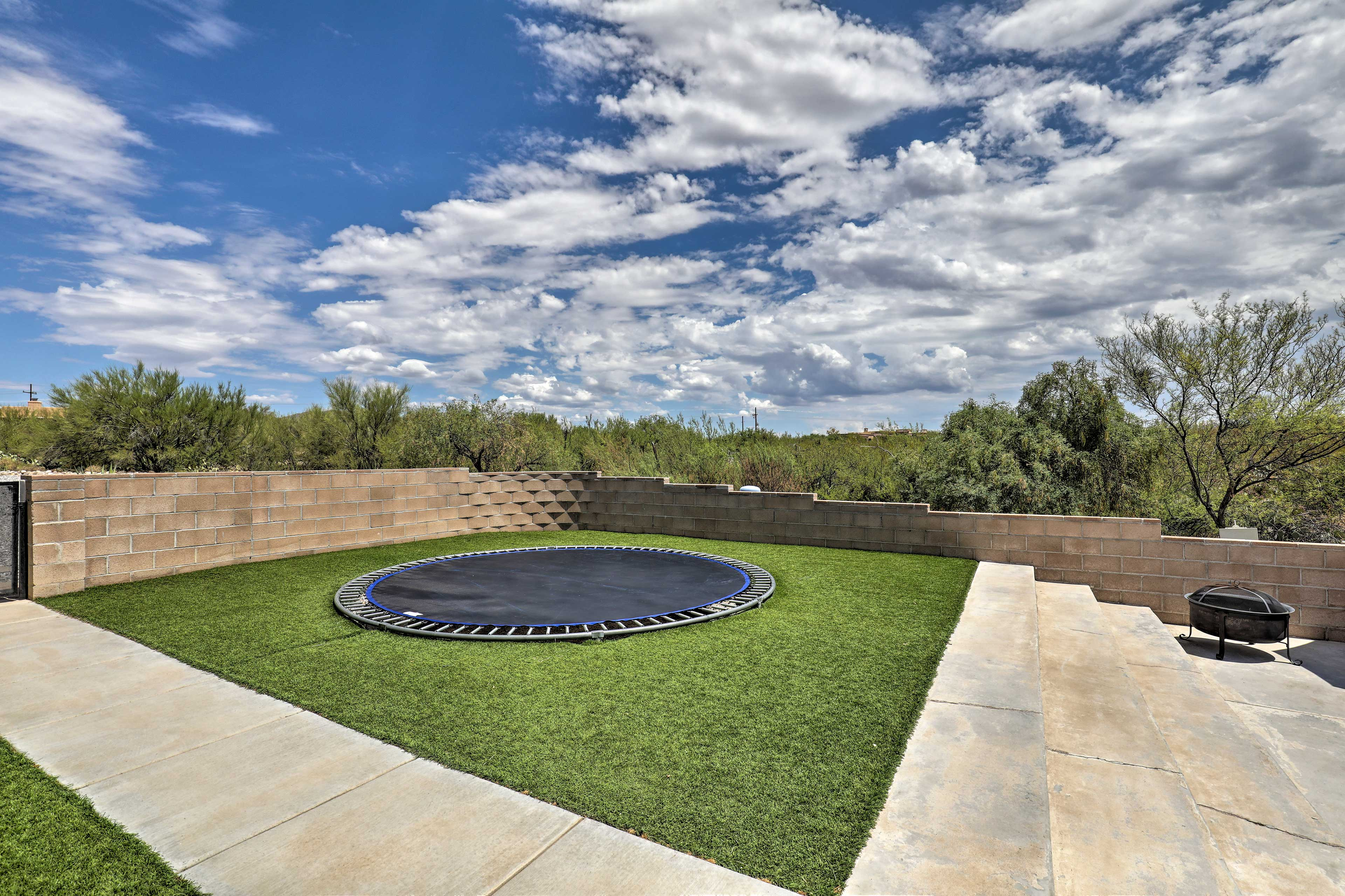 A crowd pleaser, the in ground trampoline will make anyone's day.