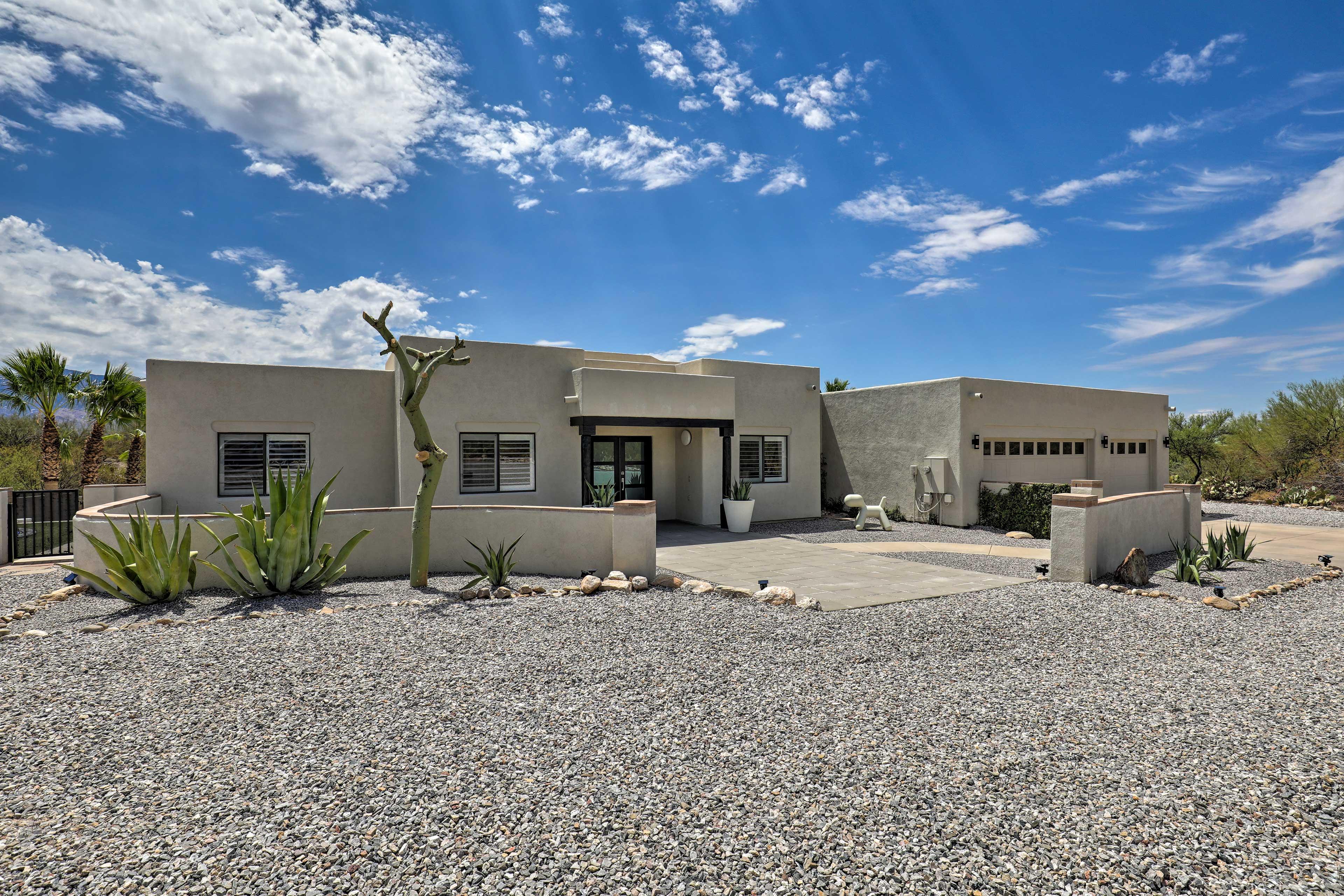 This architecture belongs in a true desert landscape.