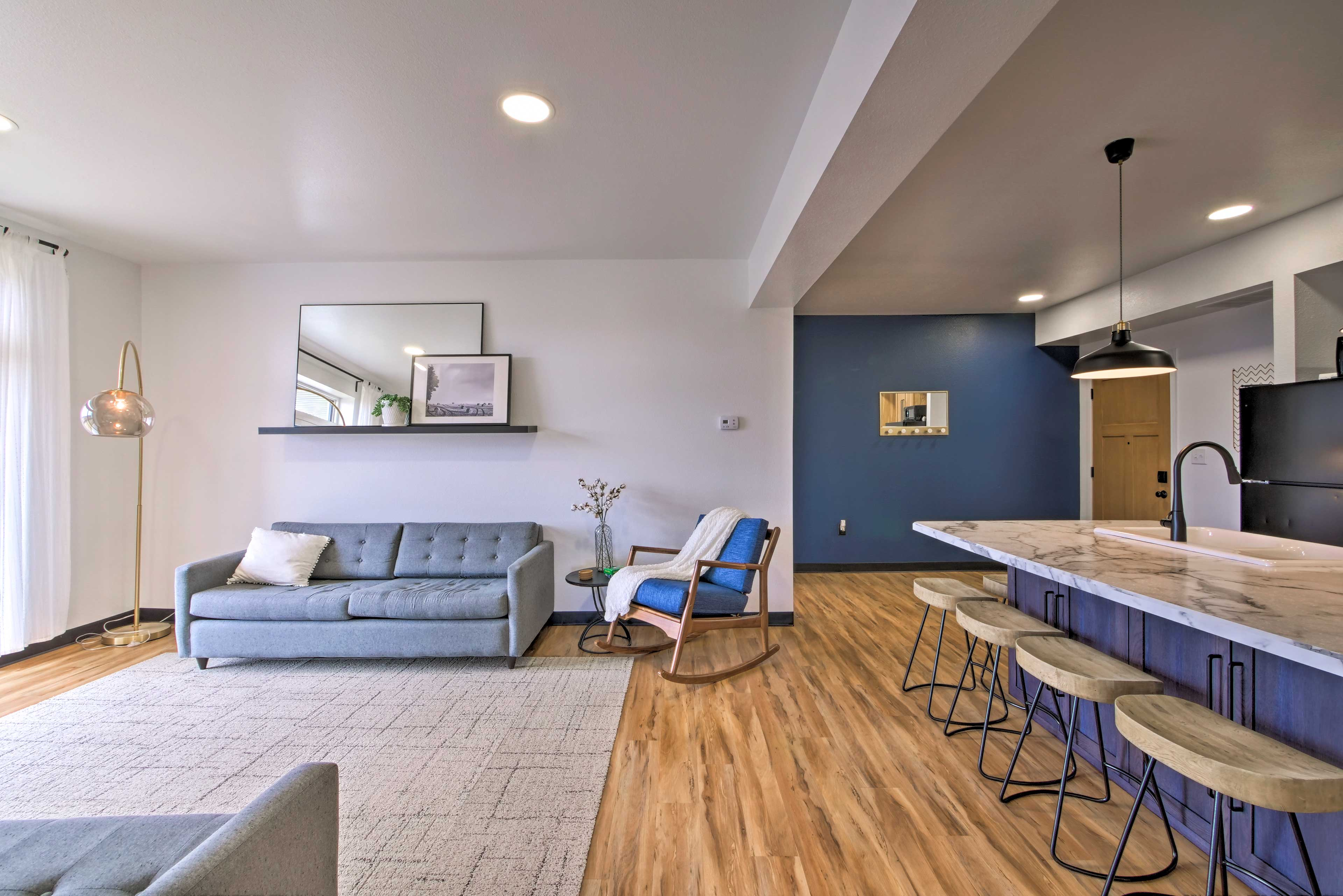 You'll love the modern decor.