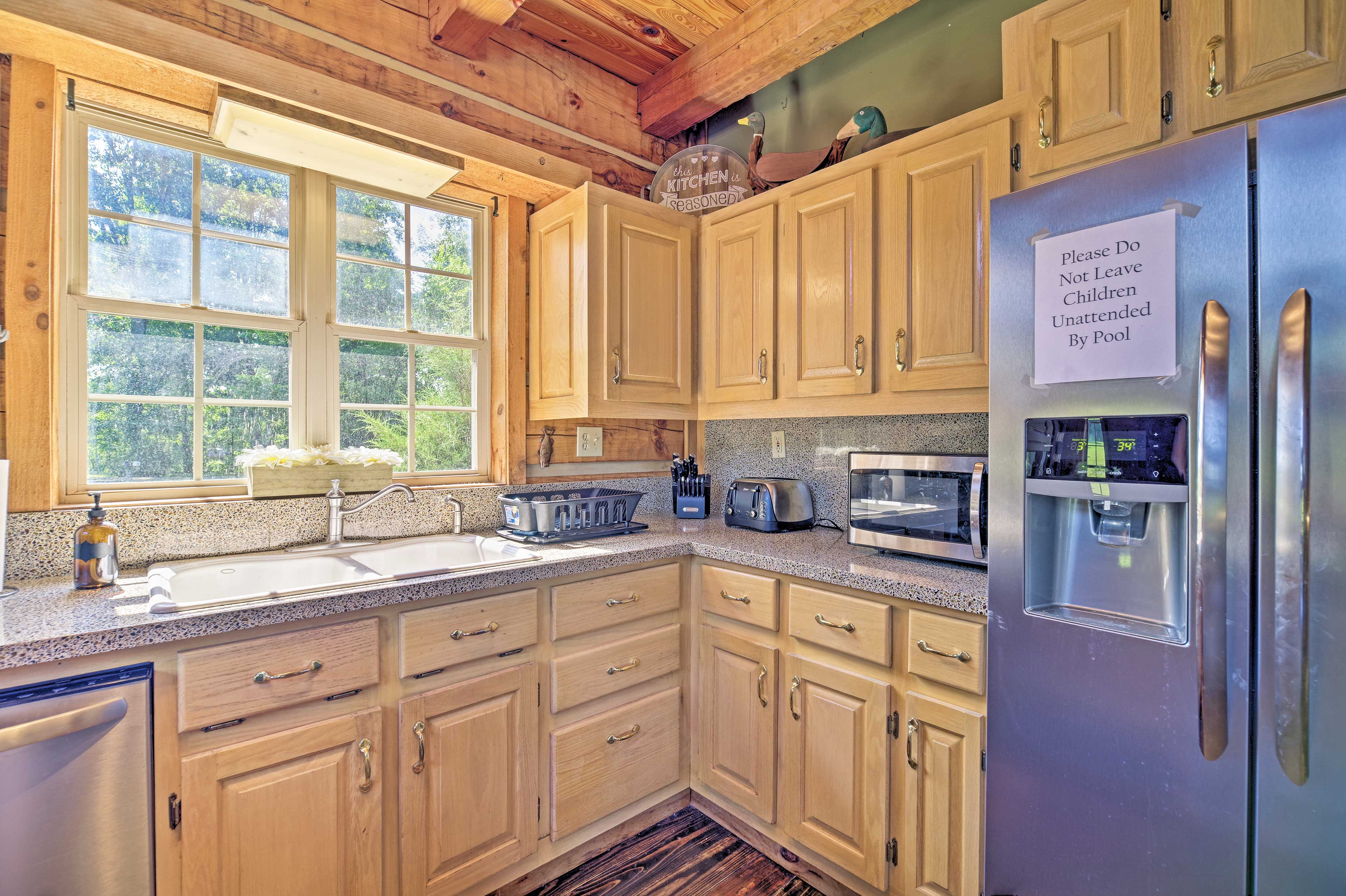 Easily prepare homemade meals in this incredible cooking space.