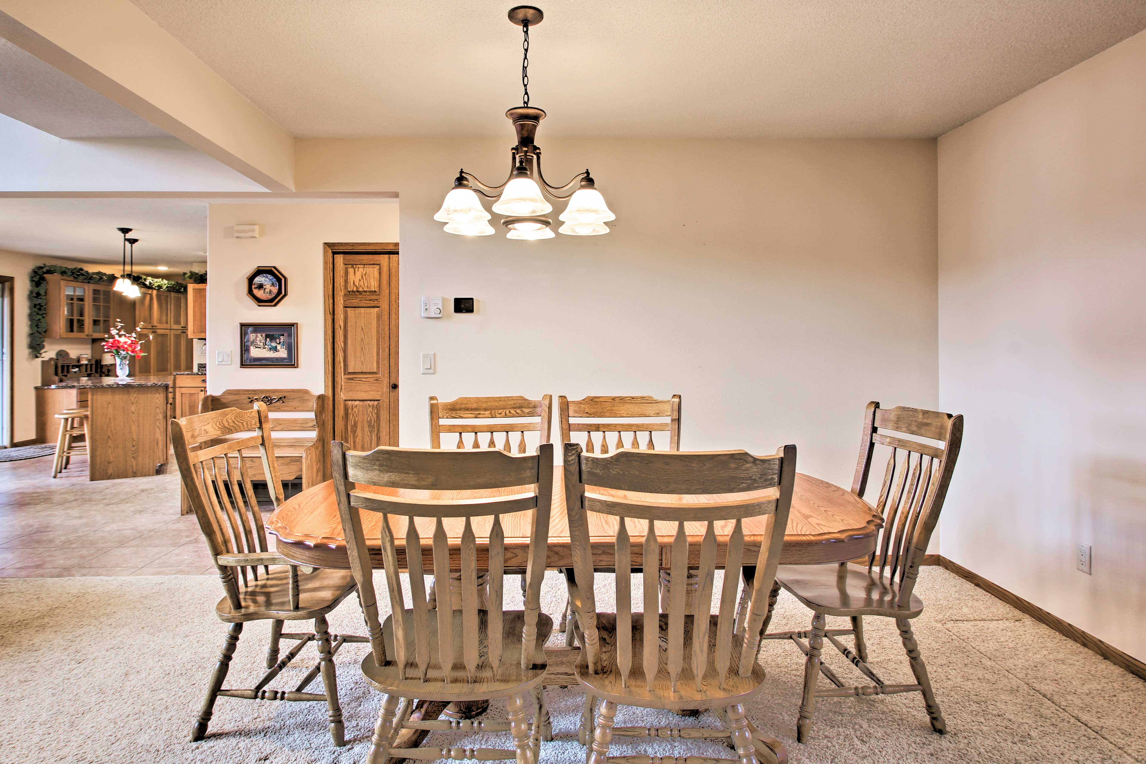 Find additional seating for meals in the dining nook.