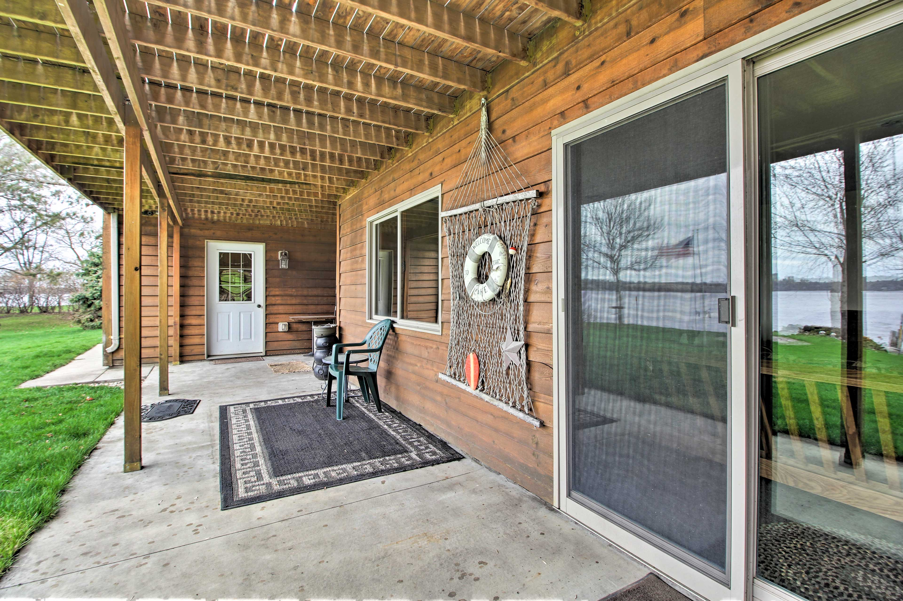 Unwind in shaded comfort on the covered patio.