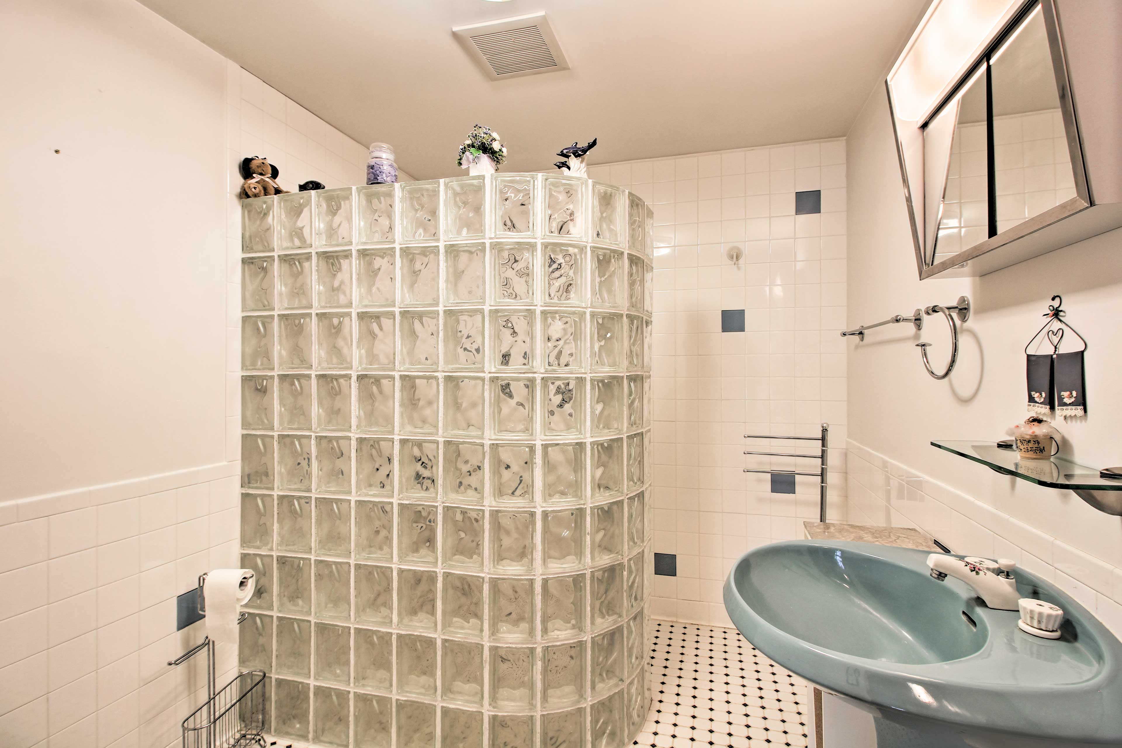 The second full bathroom boasts a shower.