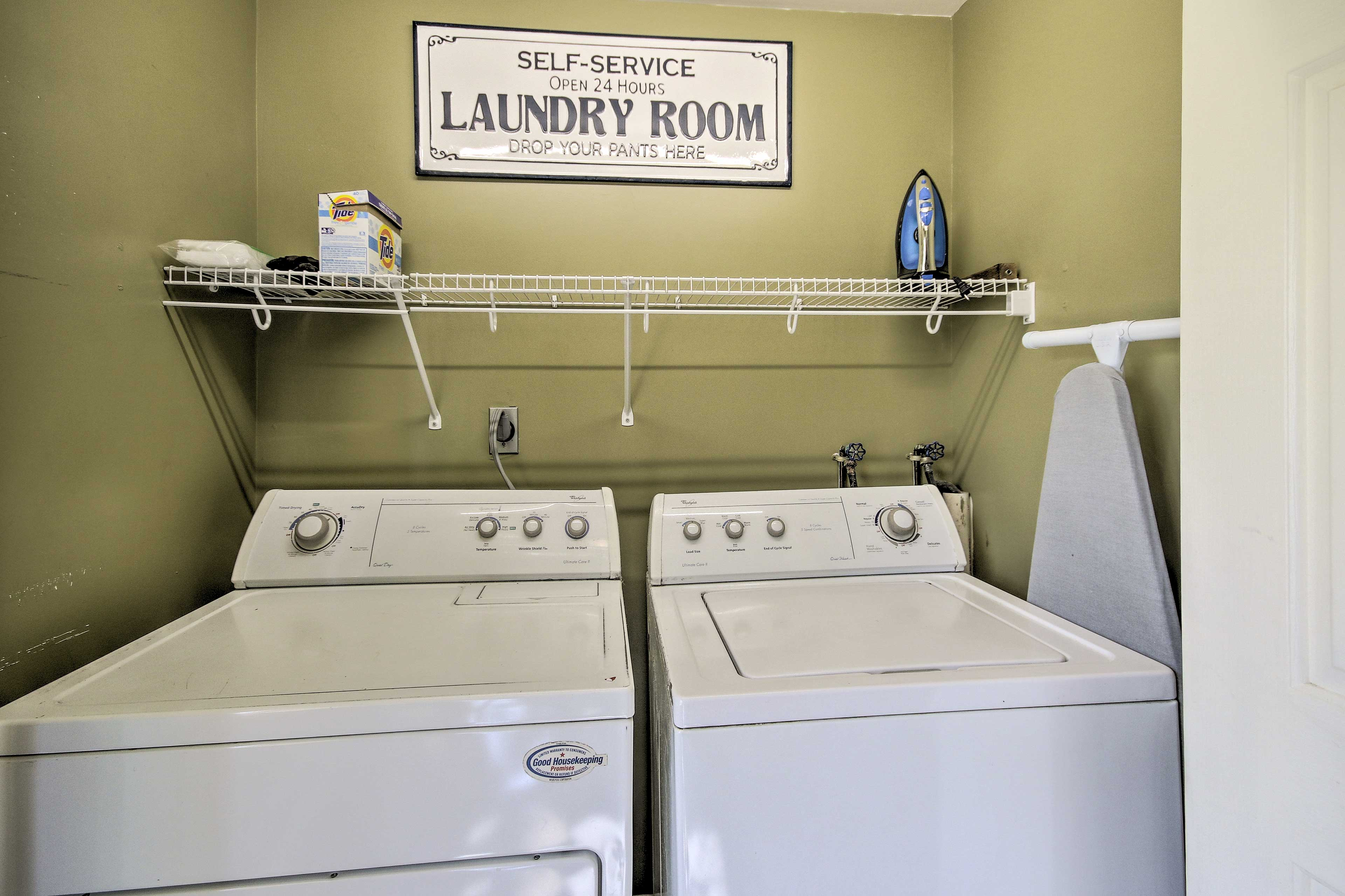 Keep clothes fresh with these full laundry machines.