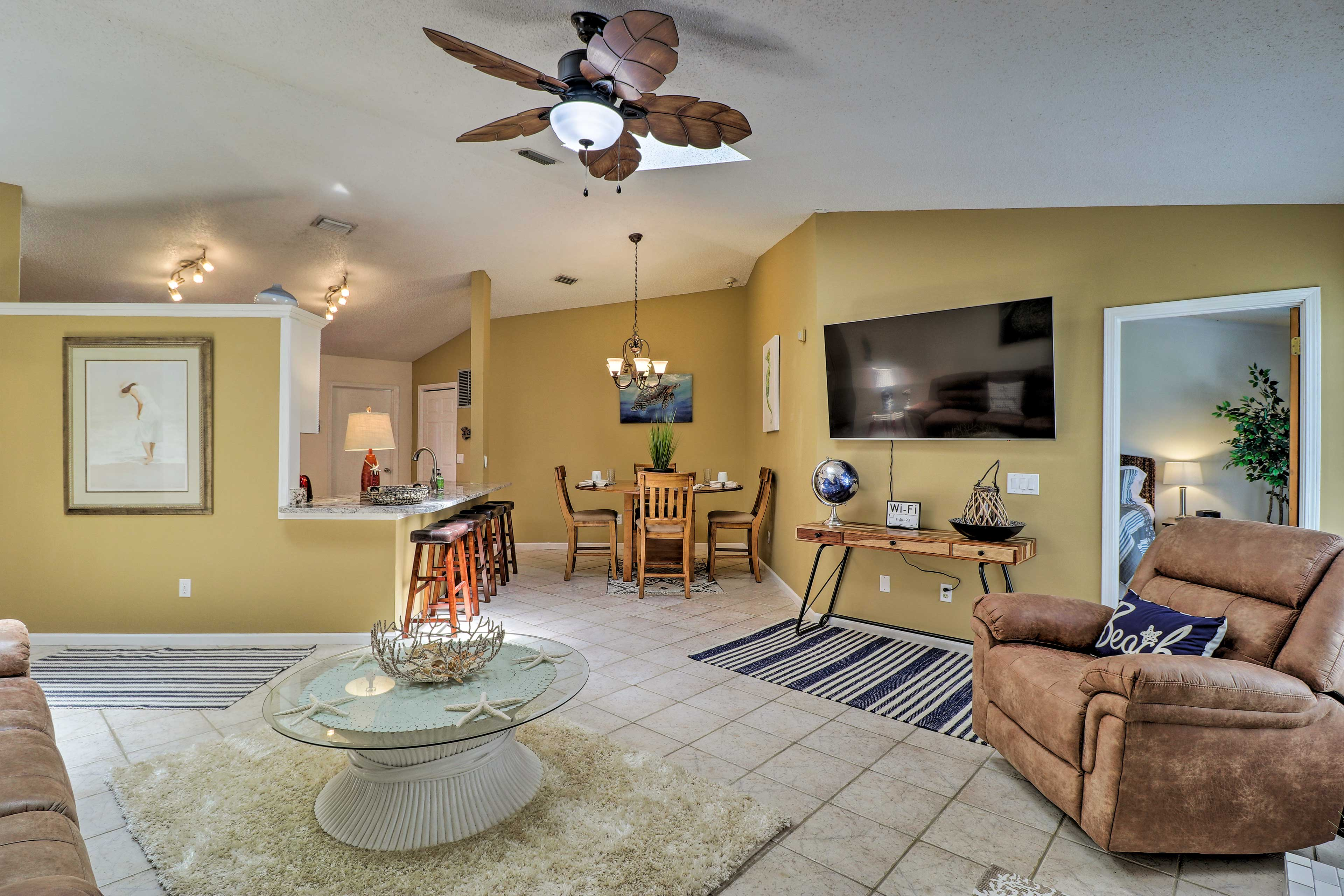 Book a trip to this 3-bedroom, 2-bathroom vacation rental home!