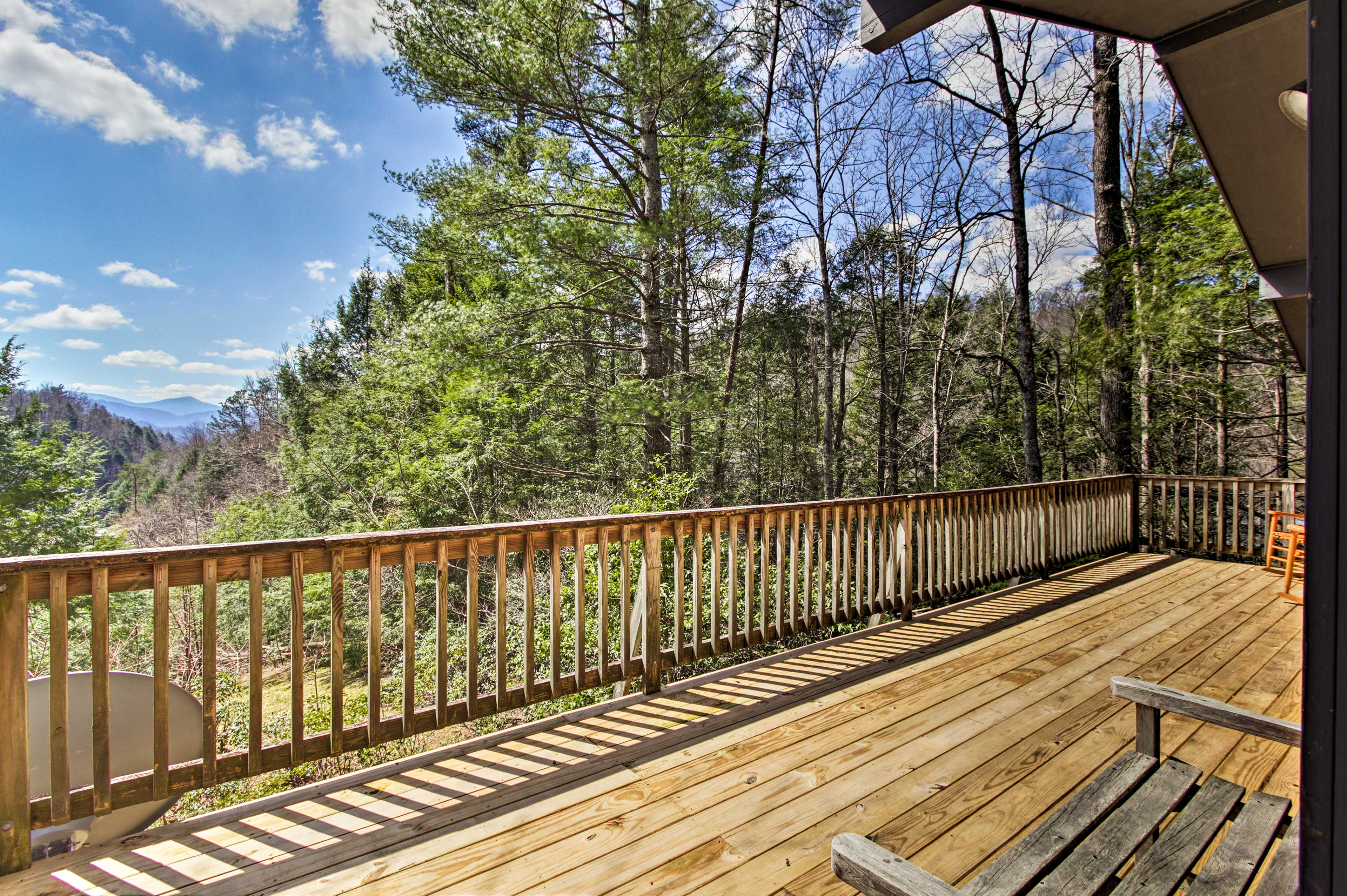 Immerse yourself in nature at this 3-bedroom, 2-bath mountain-view cabin!
