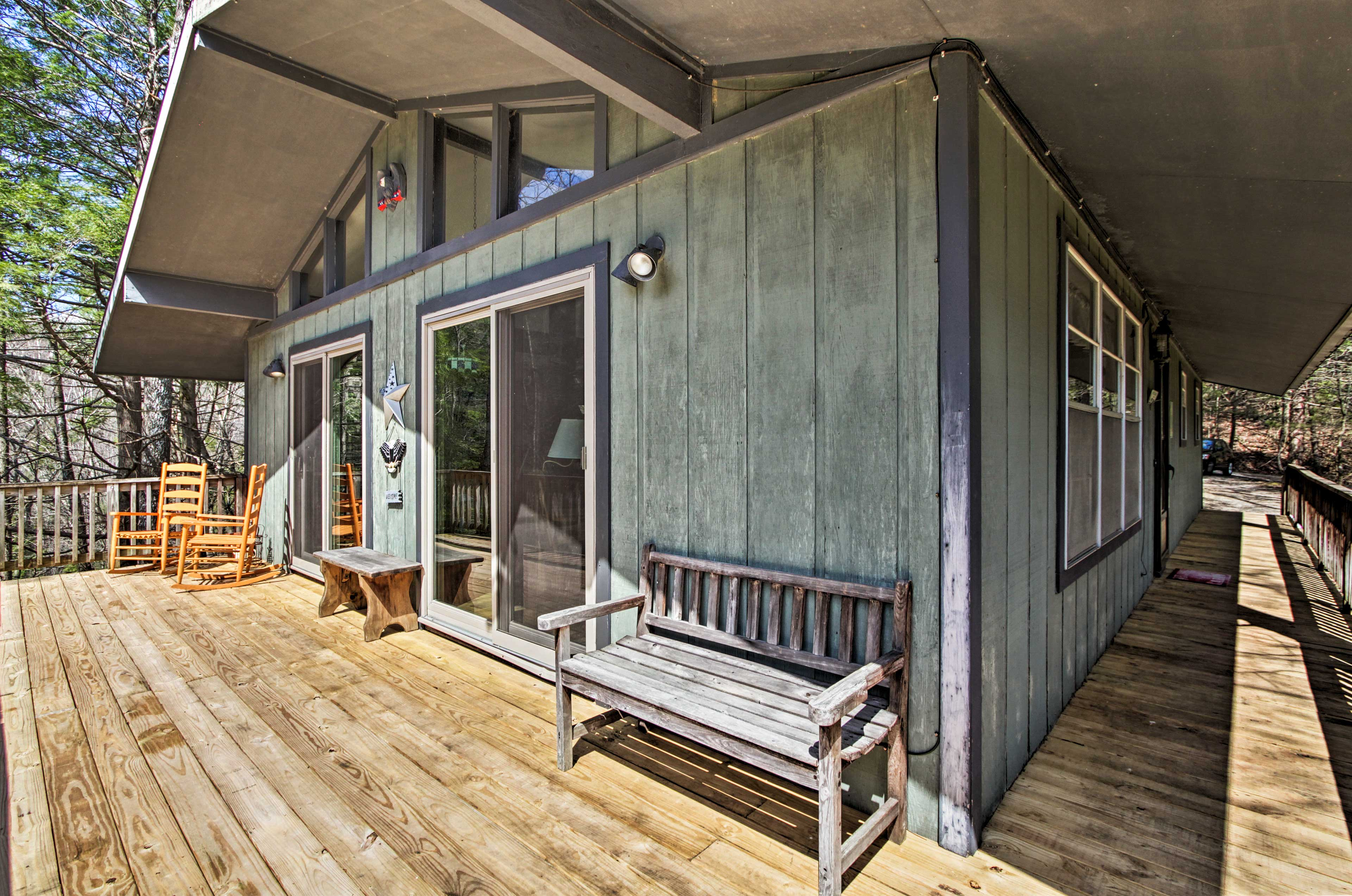 The highlight of this cabin is the wraparound mountain-view deck!