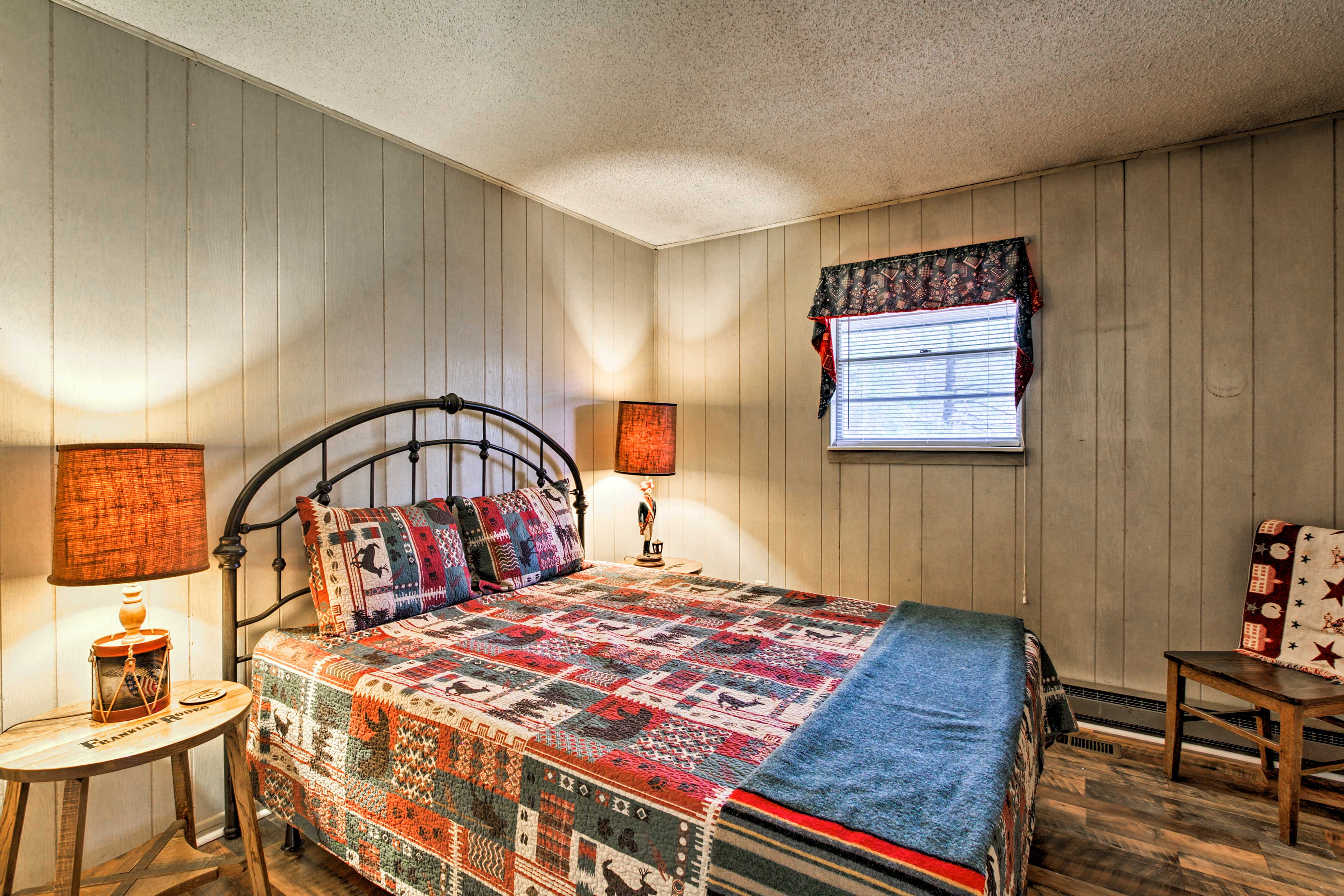 You'll find another queen-sized bed in the 3rd bedroom.