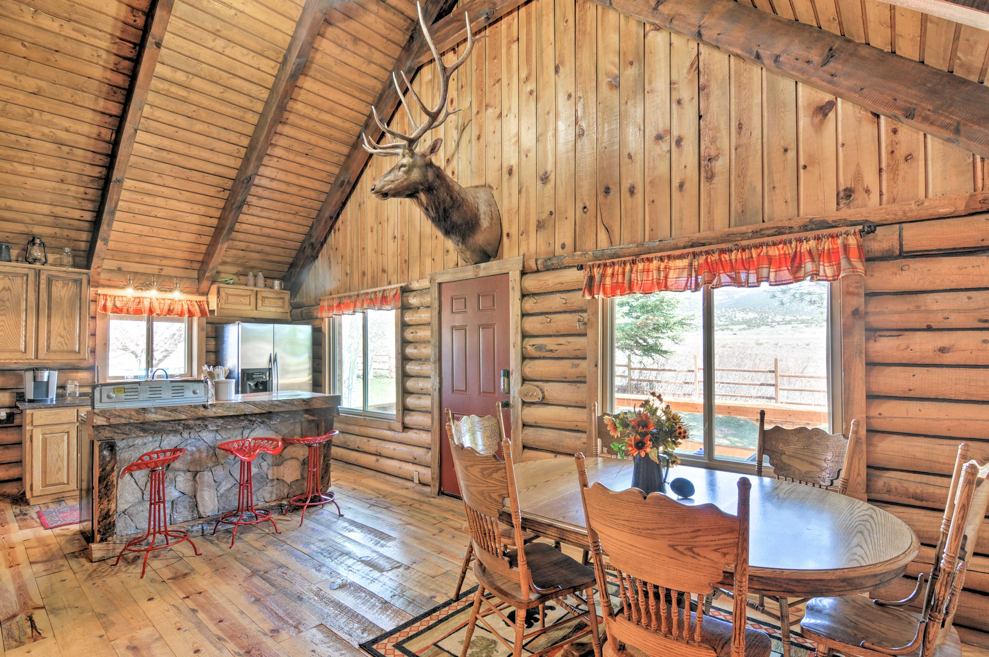 Step inside the 2,500-square-foot cabin!