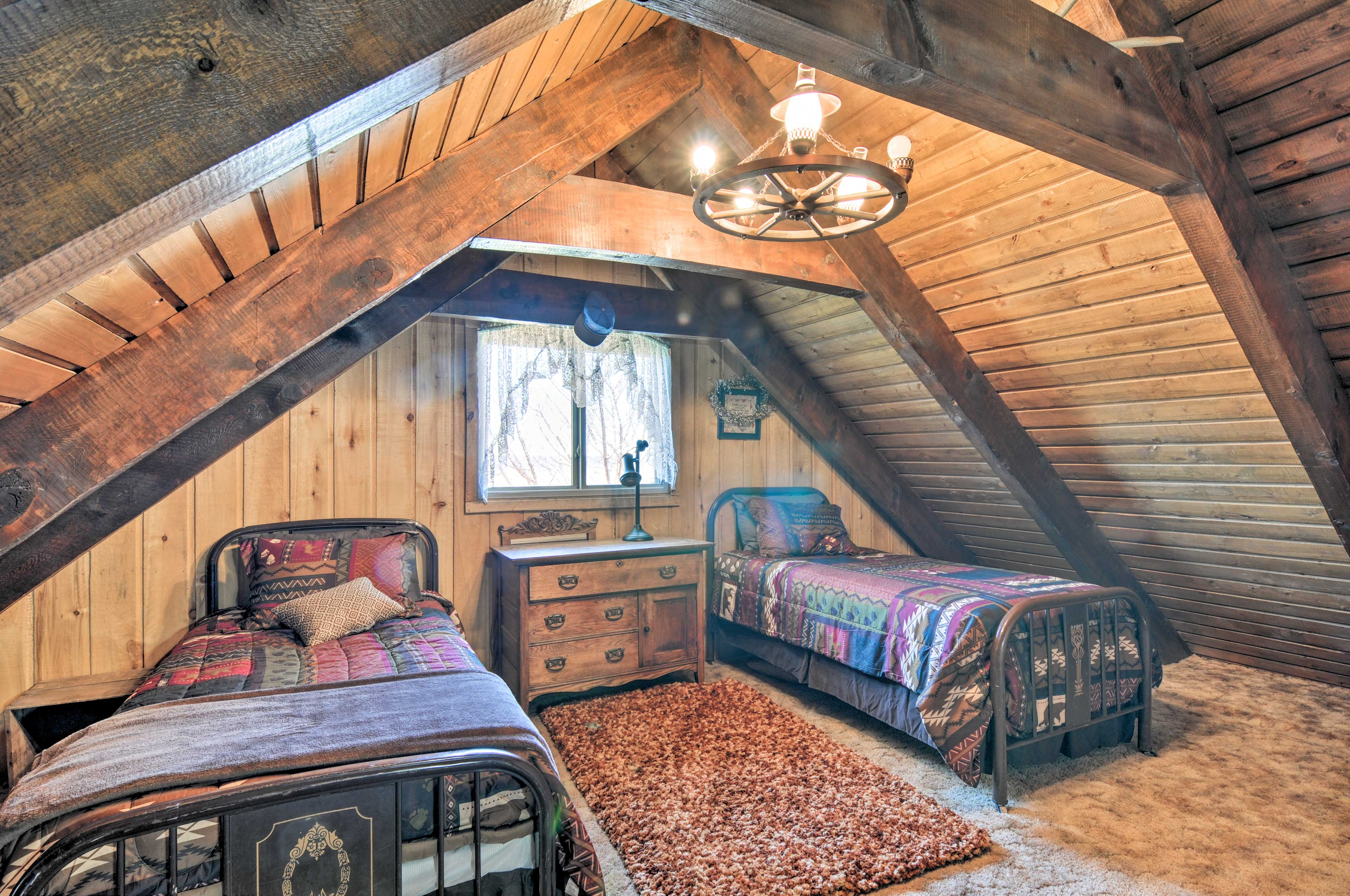 Kids will enjoy the twin beds in the loft!