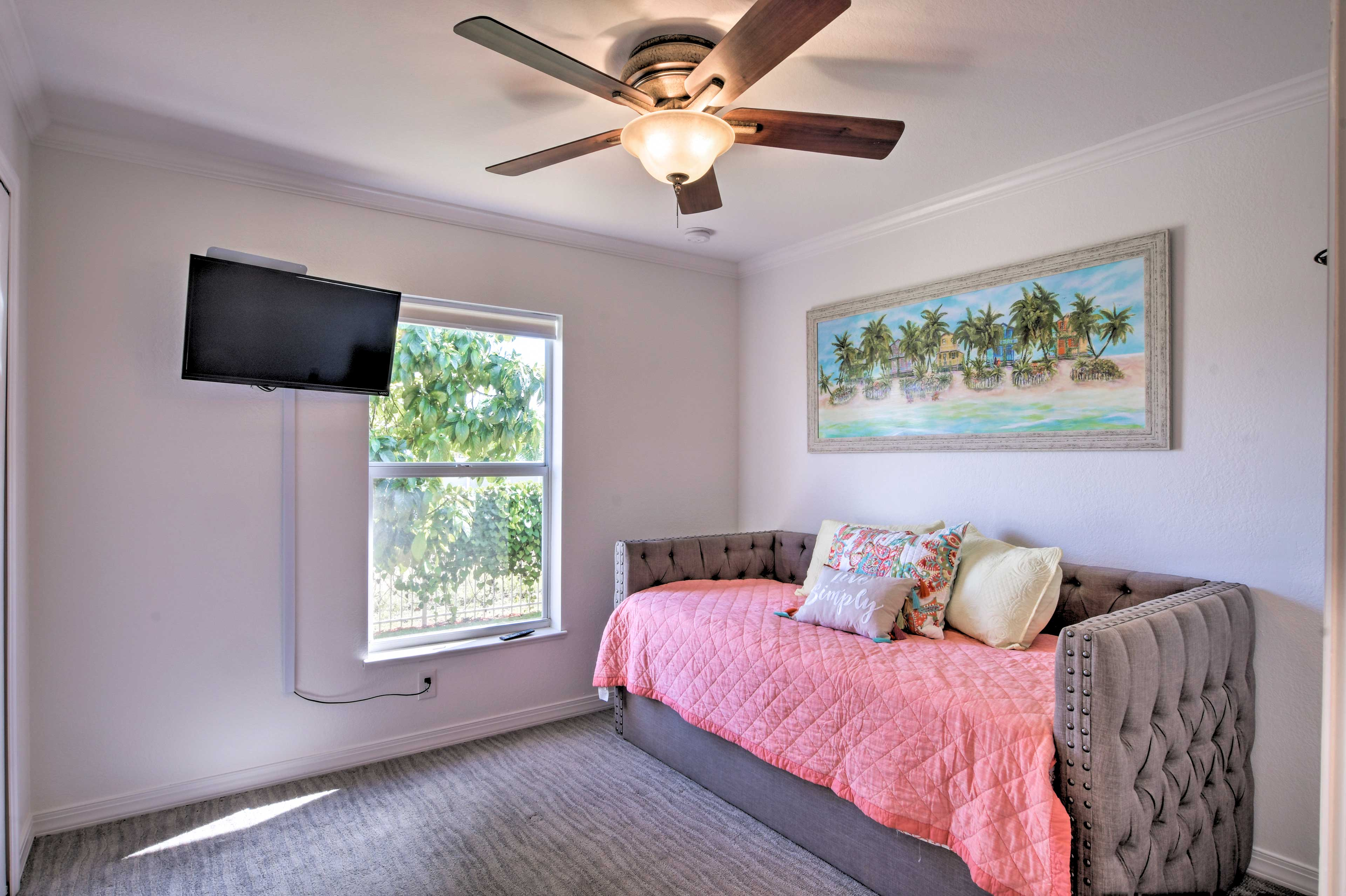 A twin bed and twin trundle bed are available for 2 guests in this room.