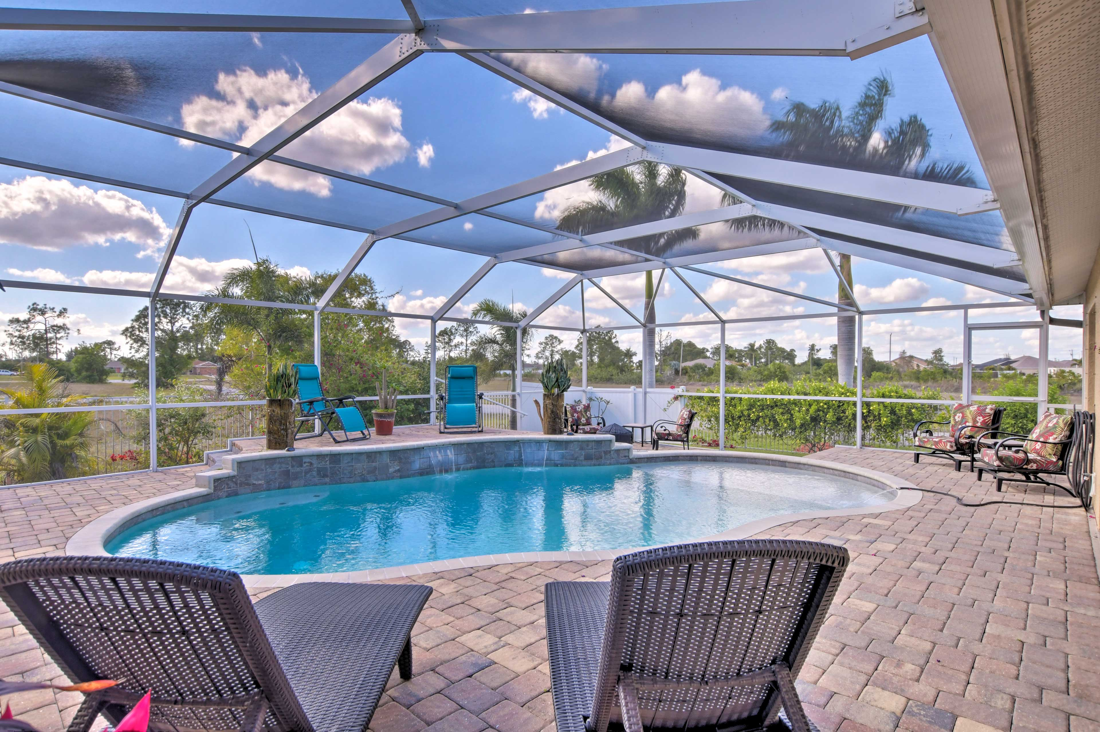 The sun and surf of Cape Coral awaits at this lovely vacation rental home.