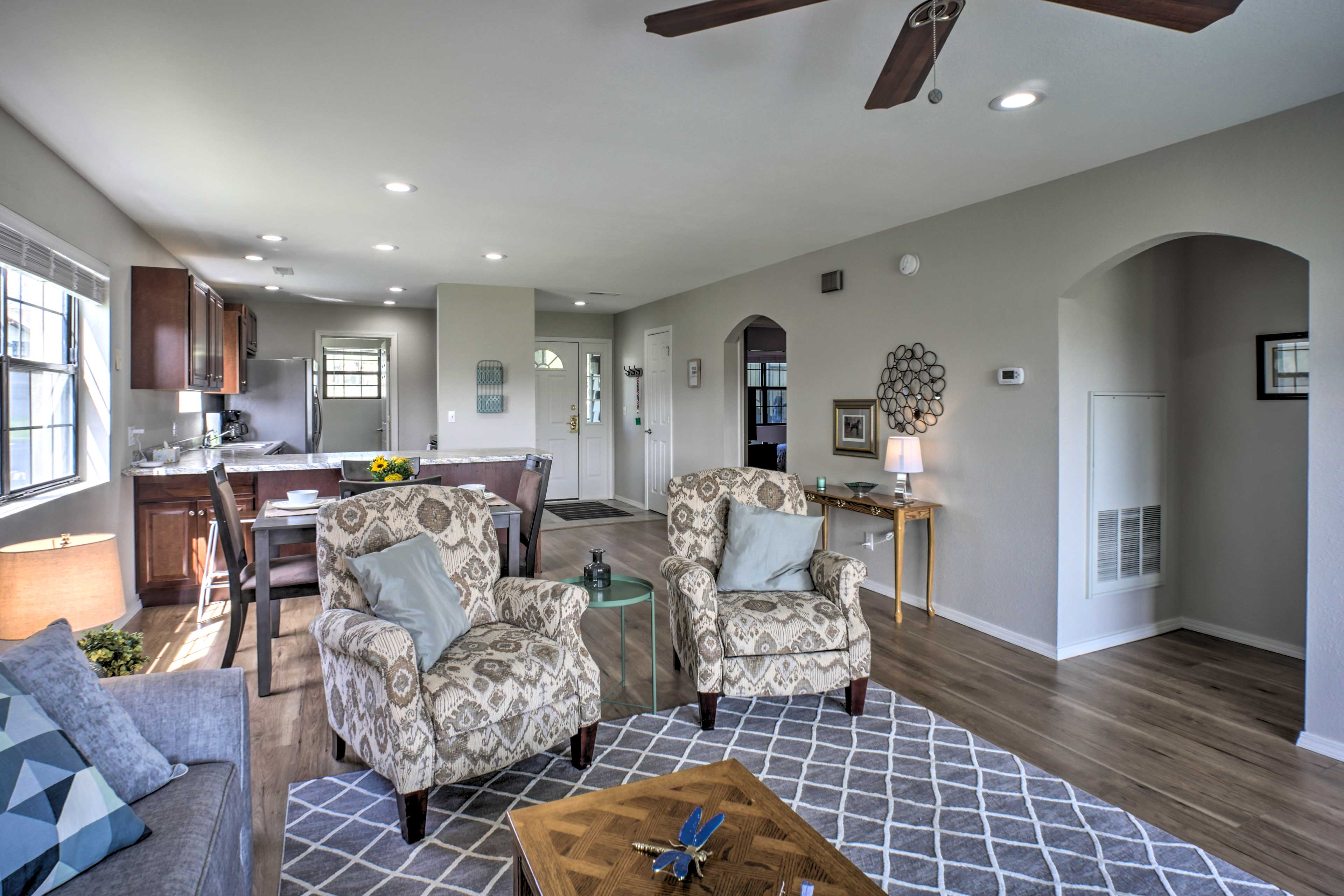 You'll love the newly updated interior with beautiful flooring.