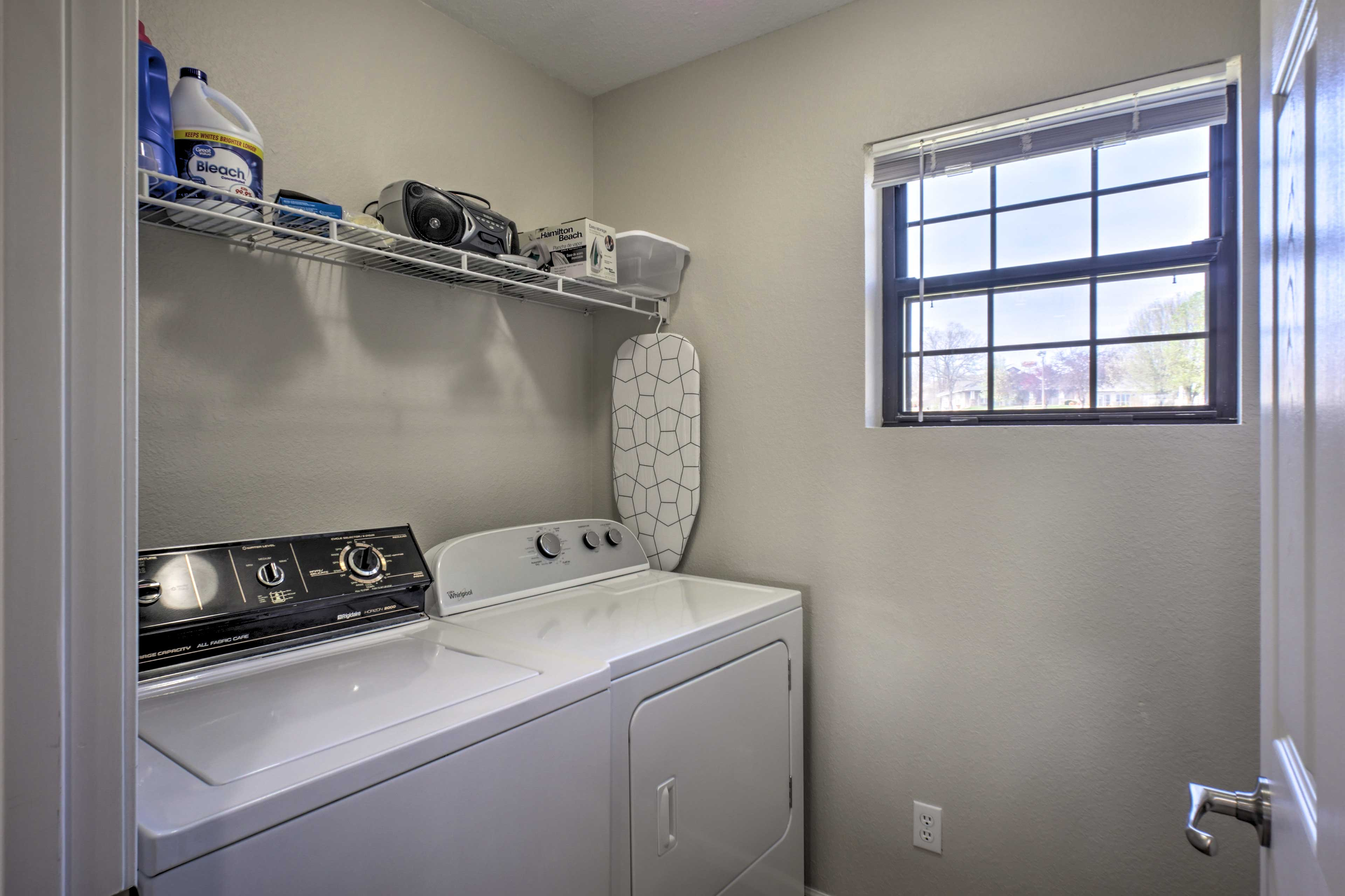 Keep your clothes fresh and clean with in-unit laundry machines.