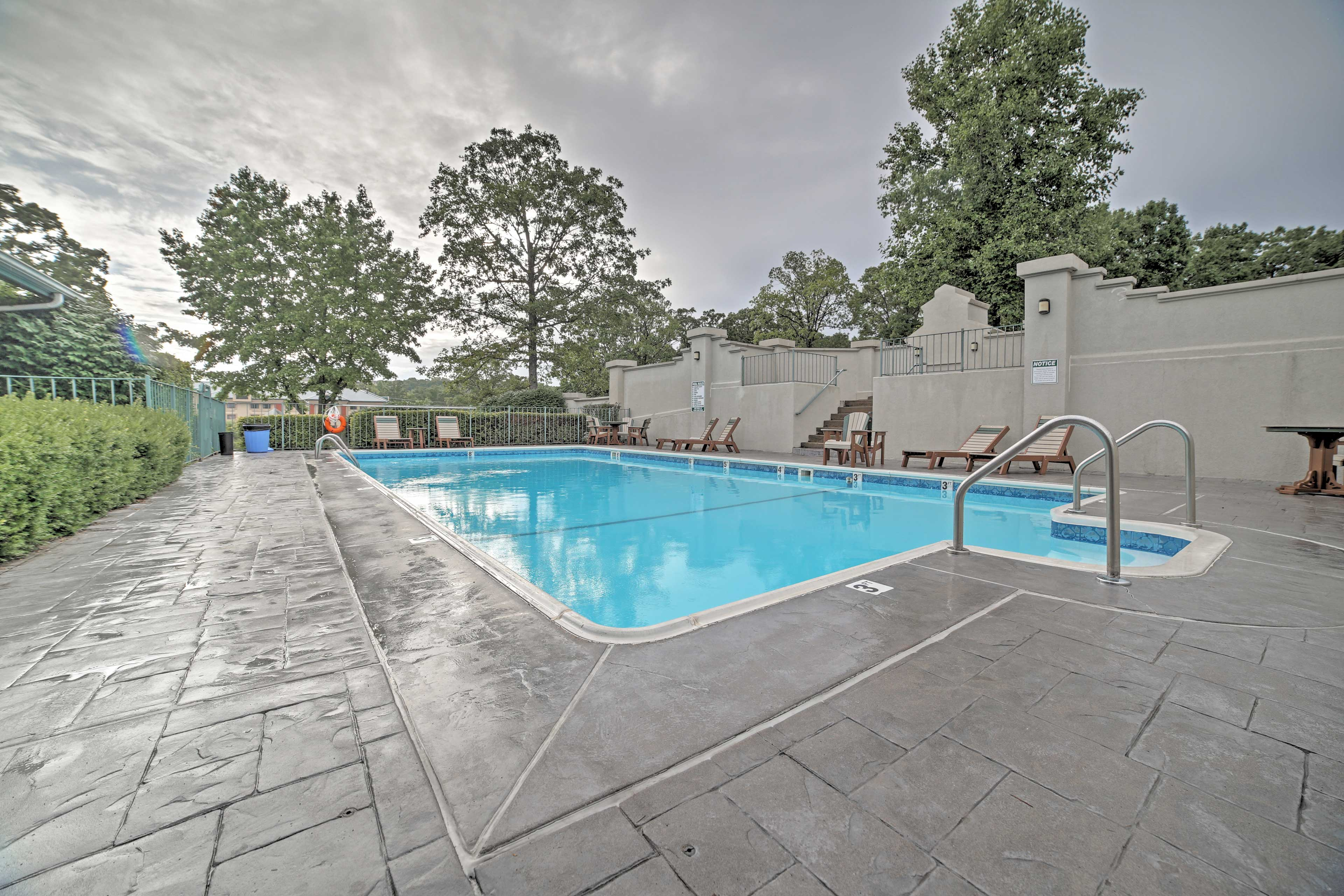 Cool off with a refreshing swim at the community pool.