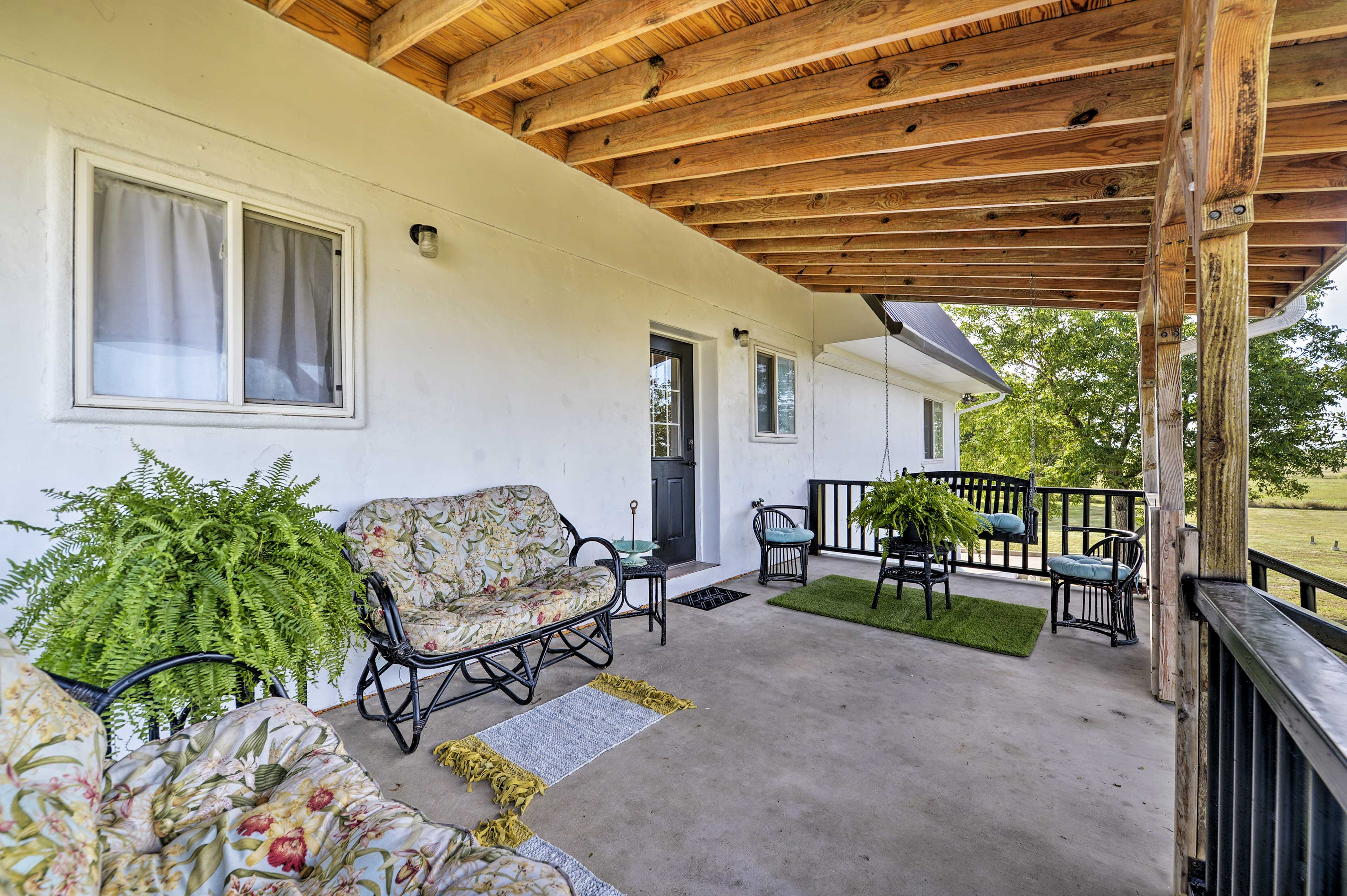 Breathe the fresh air on your private porch.