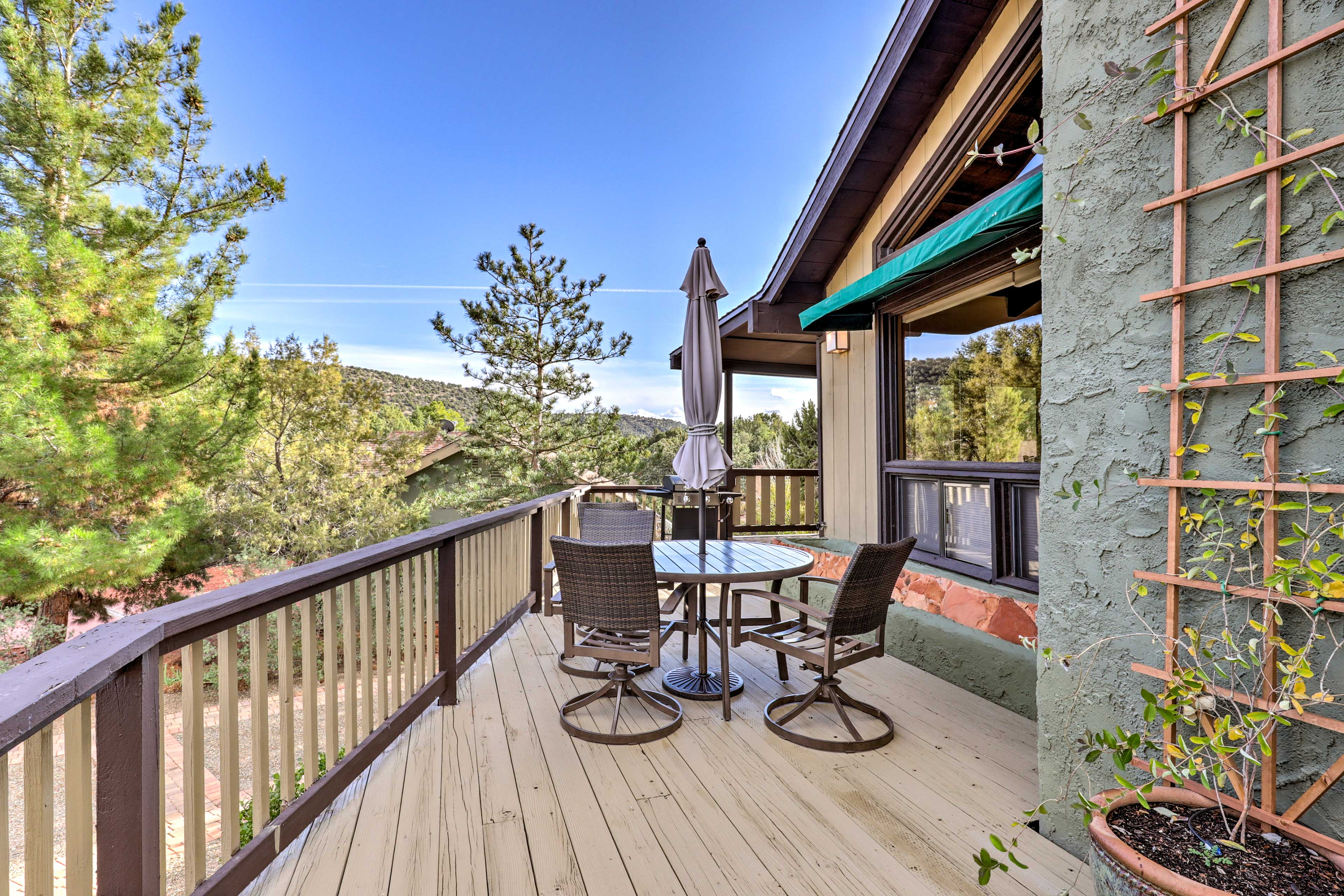 The wraparound deck makes sure you have views of sunrise and sunset.