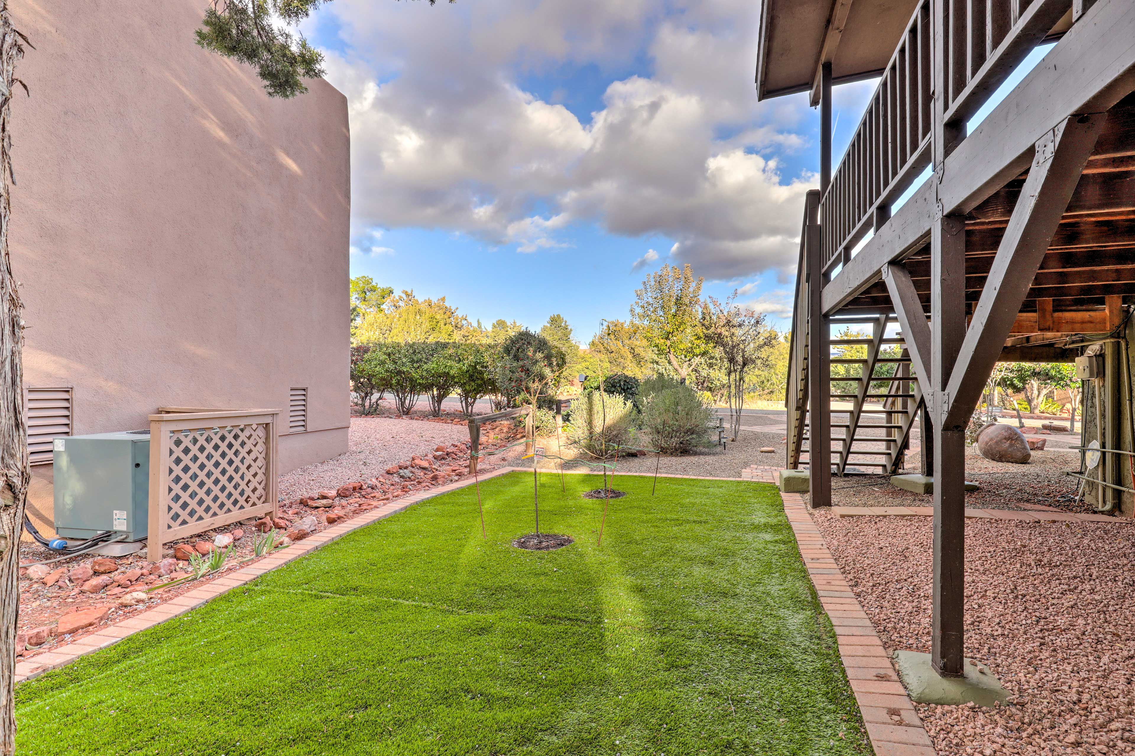 Additional yard space means you don't have to stop playing when you come home.