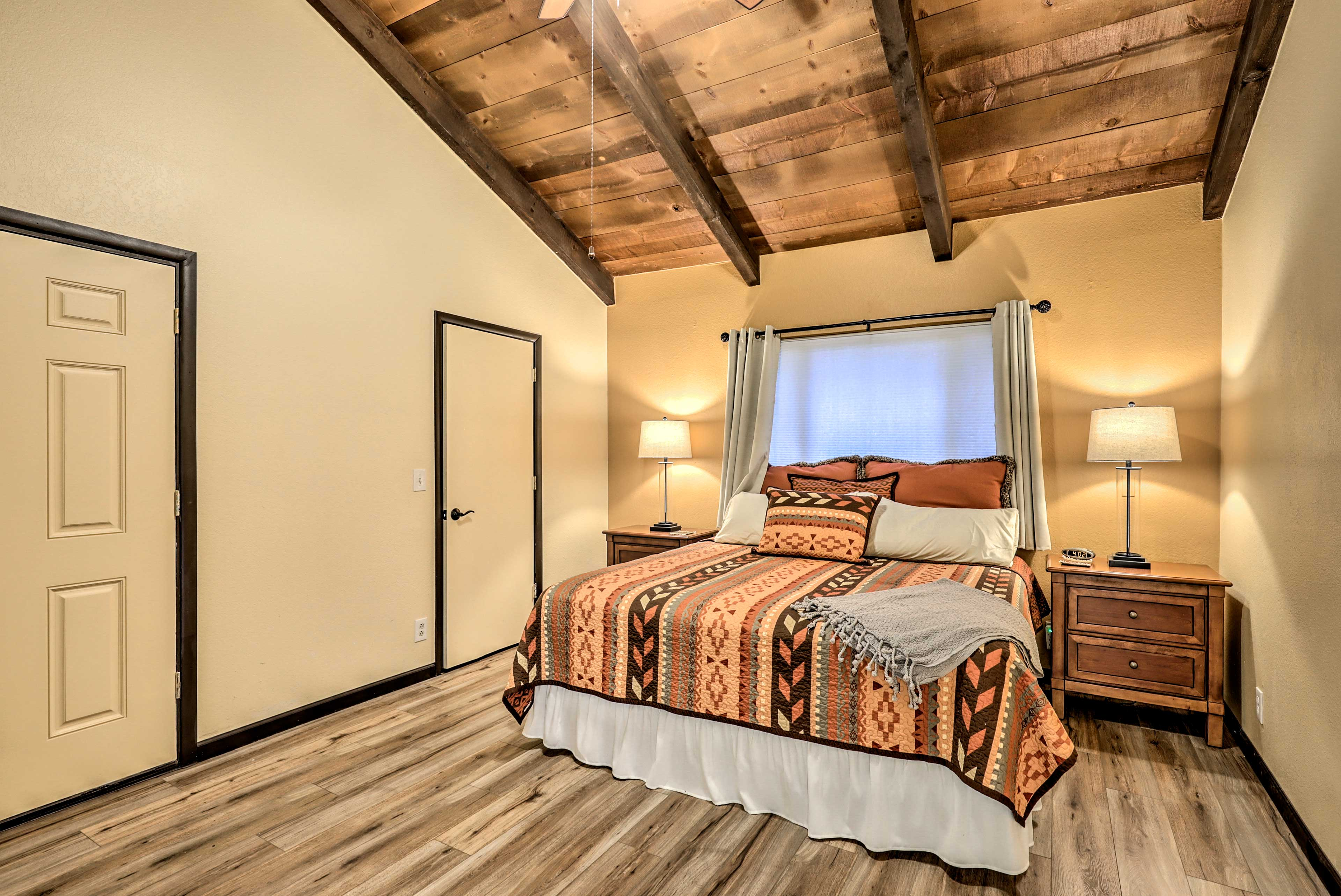 Sleep peacefully in the master bedroom after a day of fun.