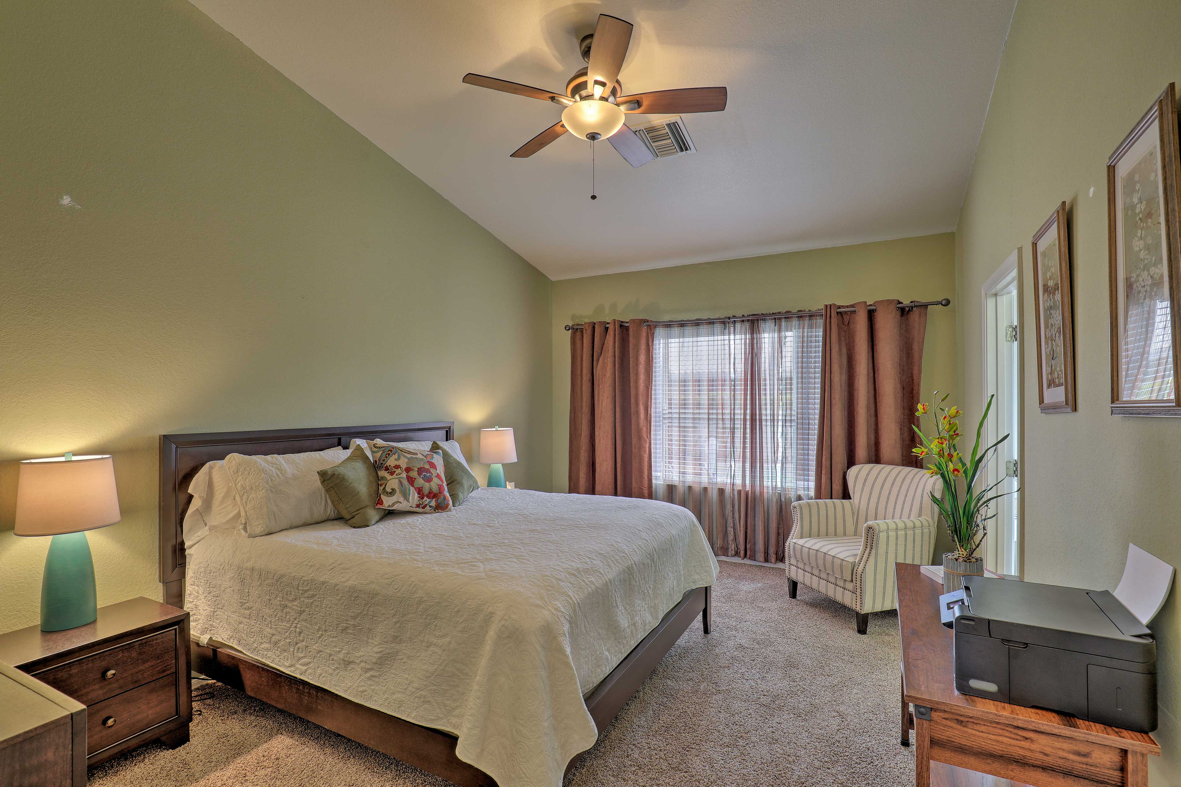 The home offers 3 bedrooms for guests to sleep in.