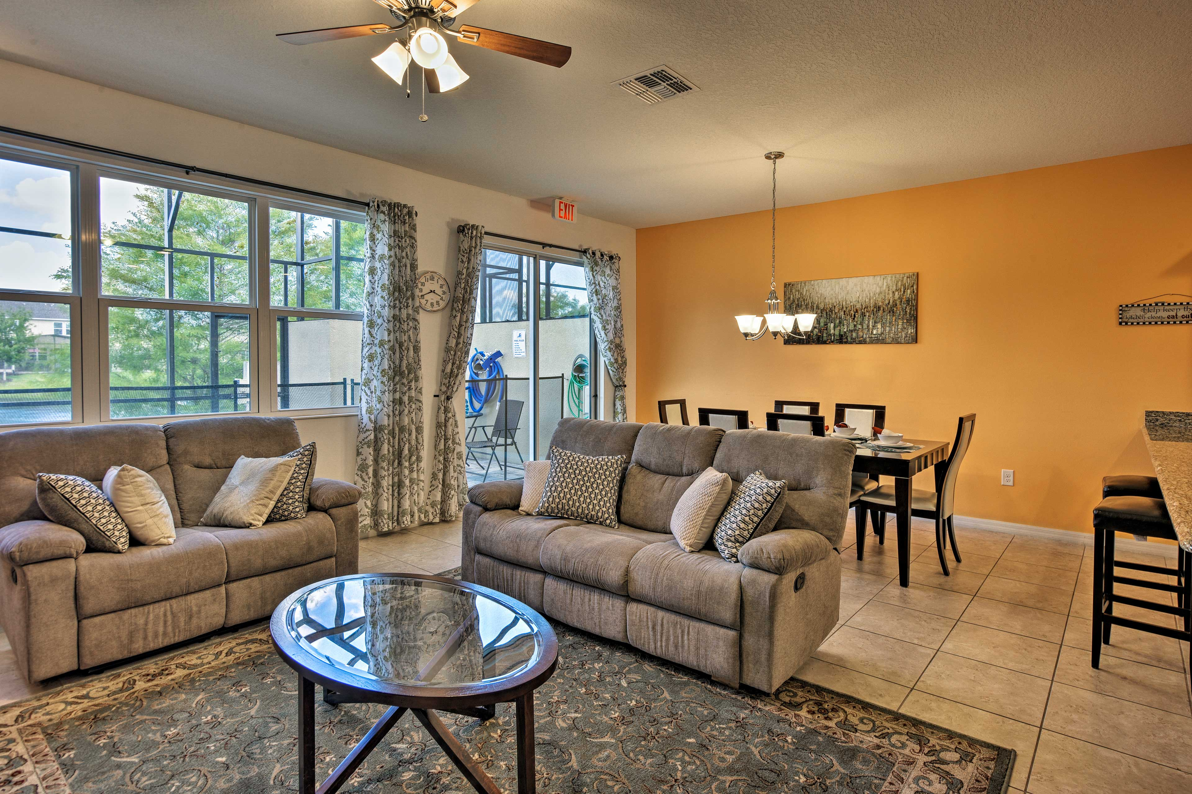 The open concept floor plan ensures nobody is left out of the conversation.