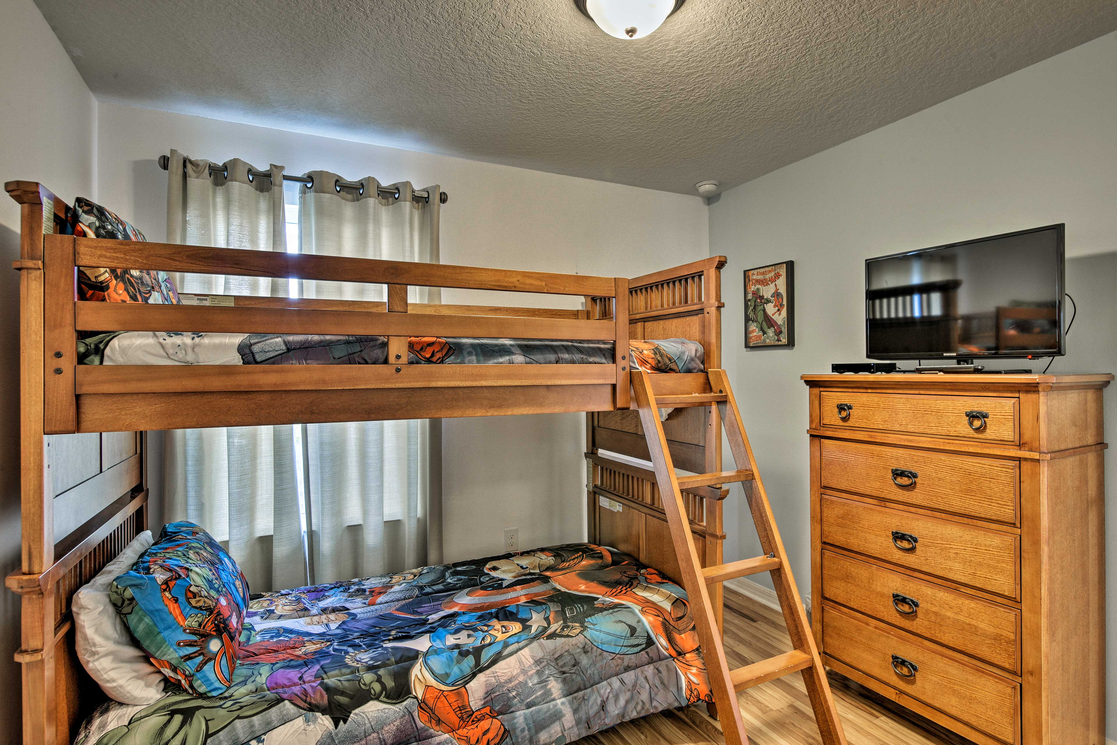 Your kids will love this twin bunk bed.