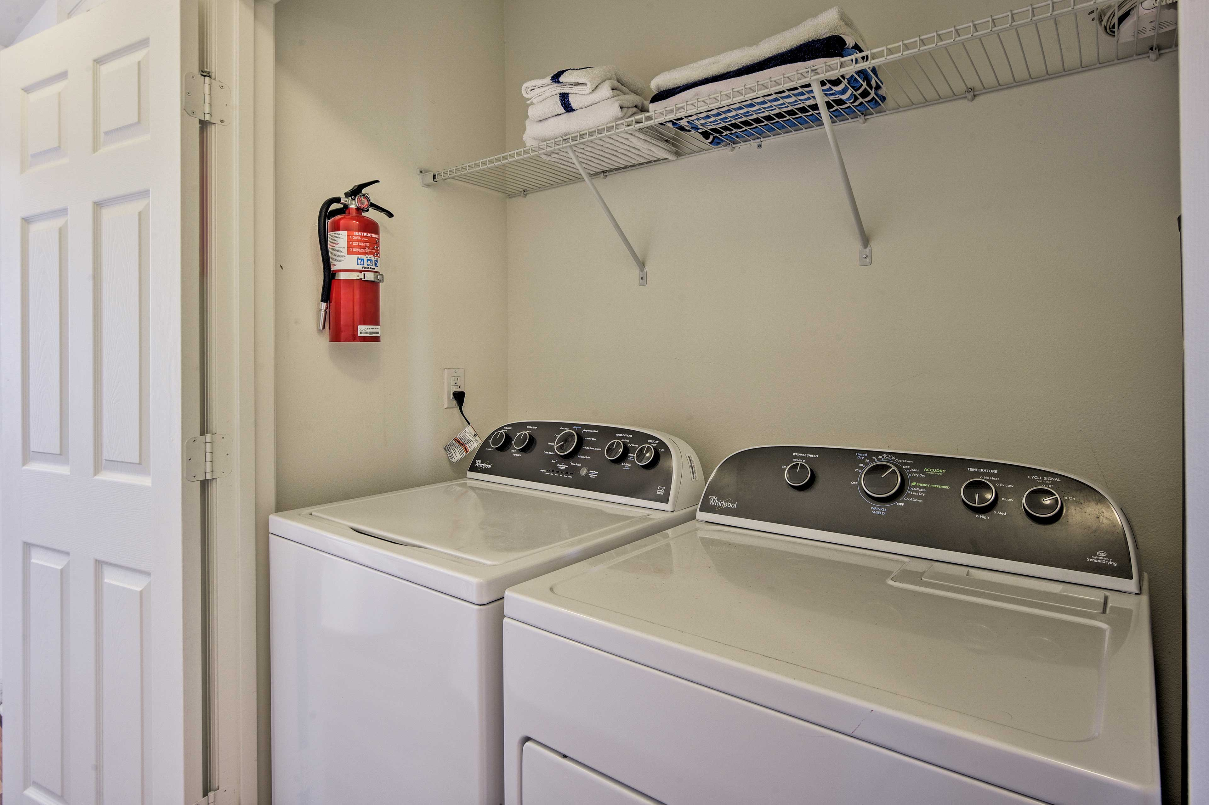 Toss your clothes in the washing machine after a day at Disney!