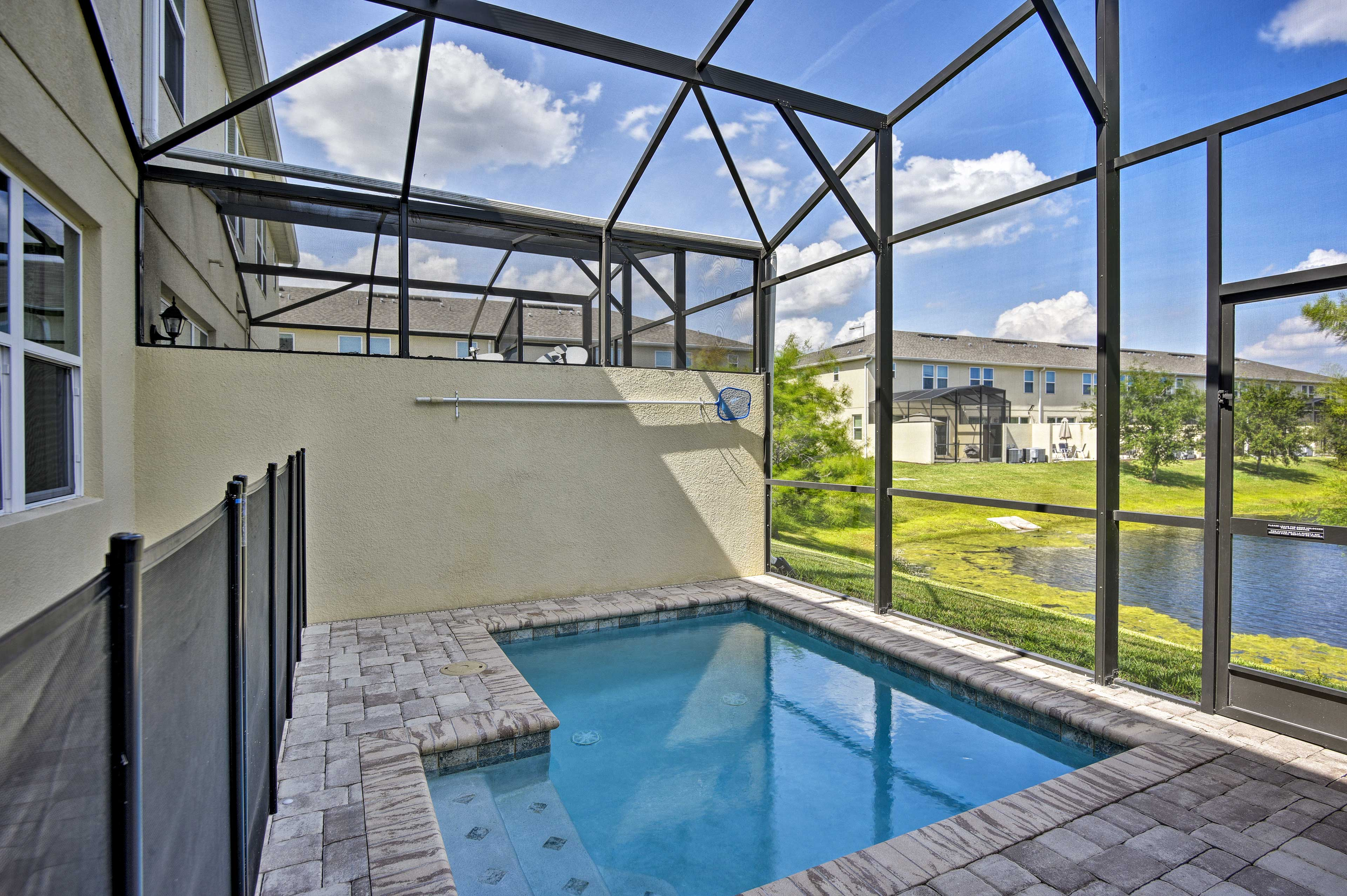 Get some fresh air out by the pool.
