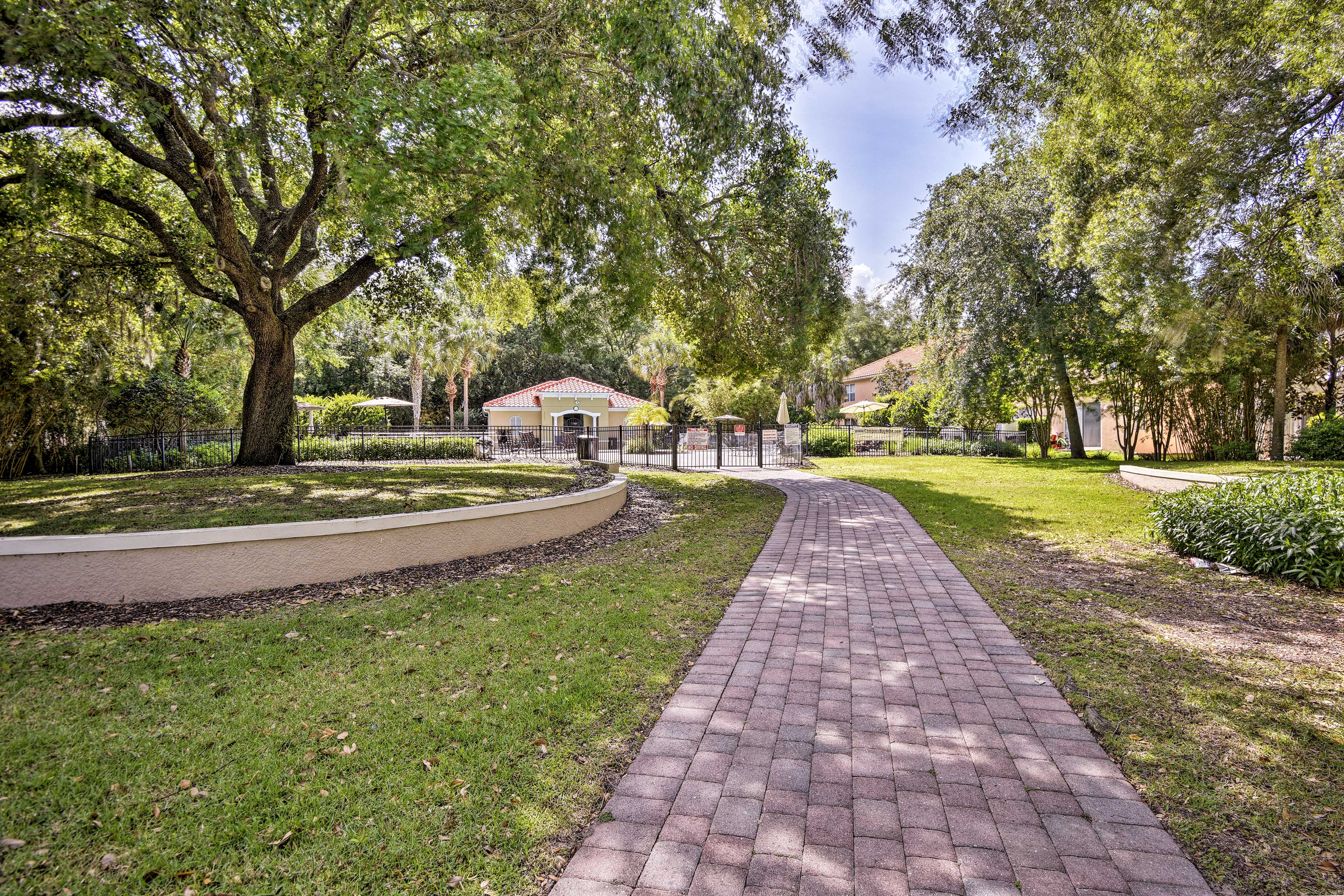 The townhome is located in a safe, gated community.