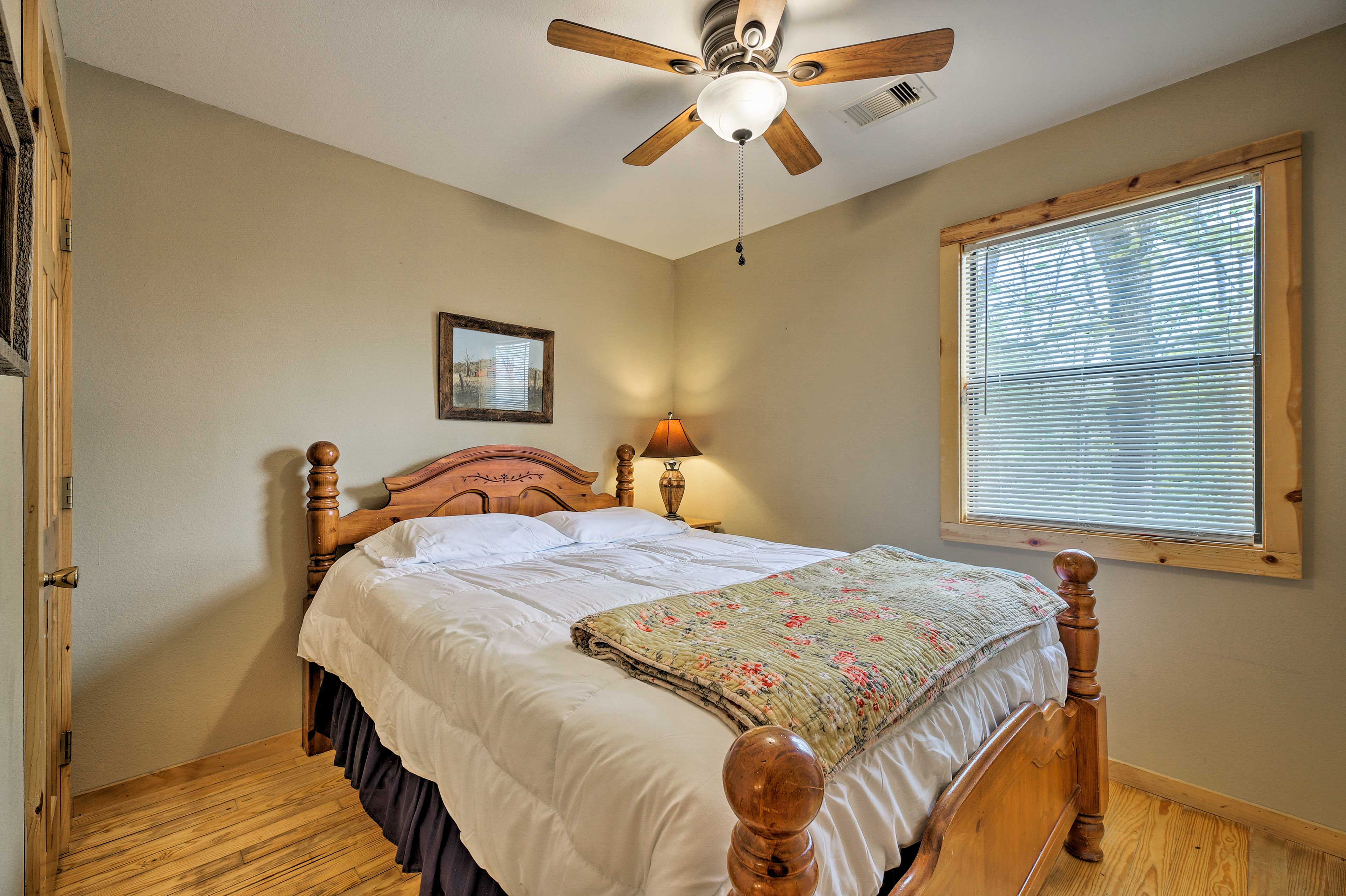 Two guests can claim the master bedroom!