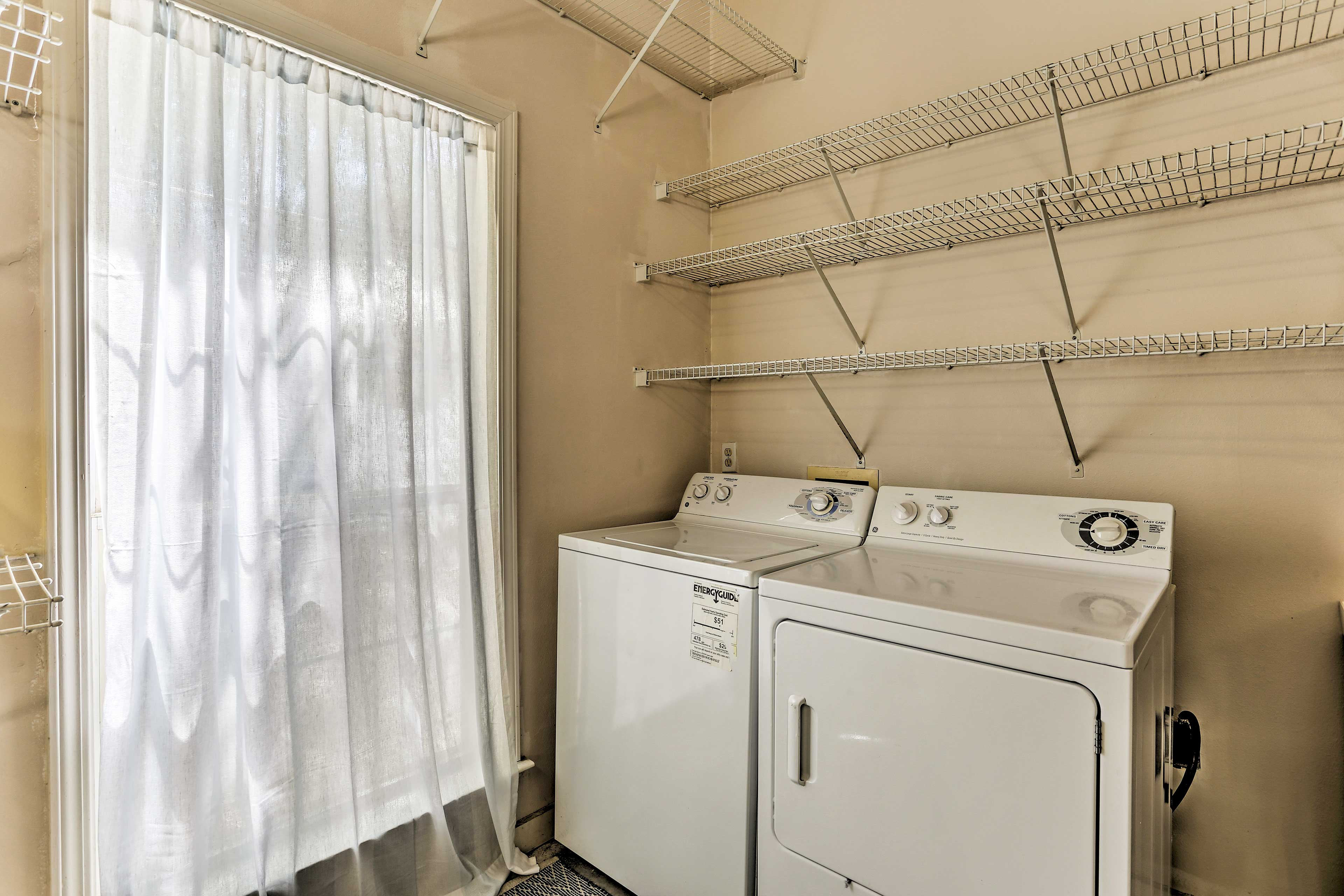 Enjoy access to a washer & dryer inside the home.