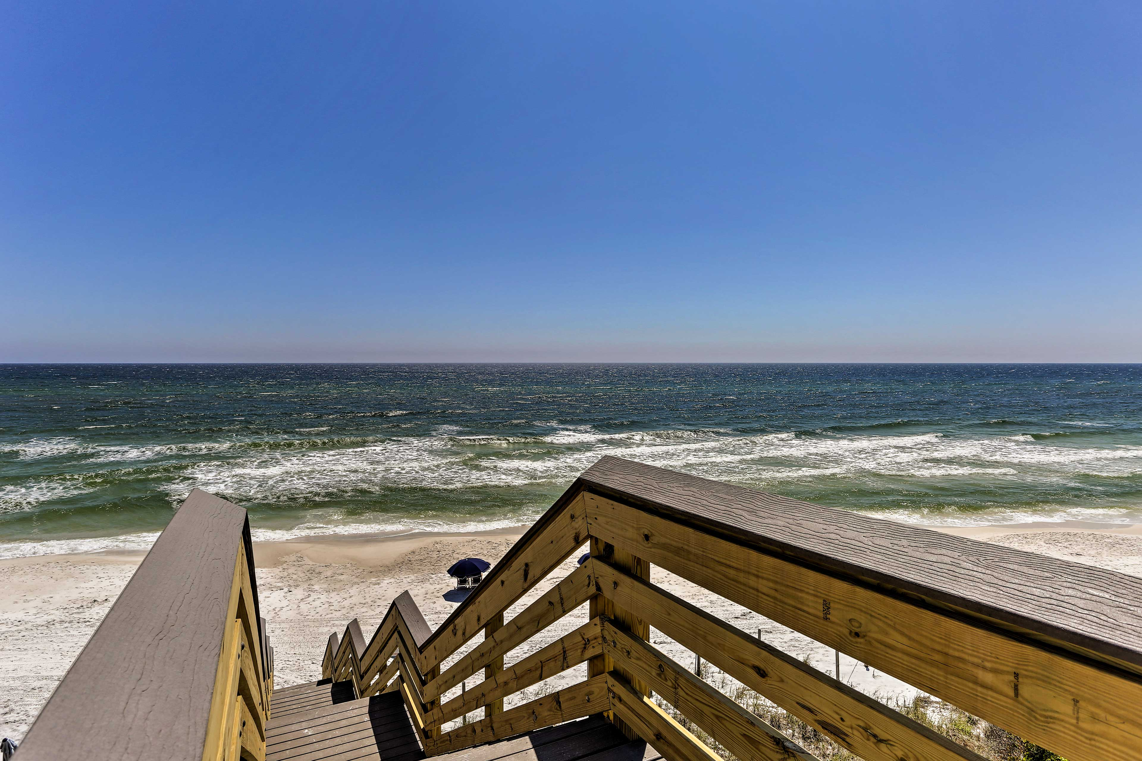 Make your way down the boardwalk & dip your toes in the ocean.
