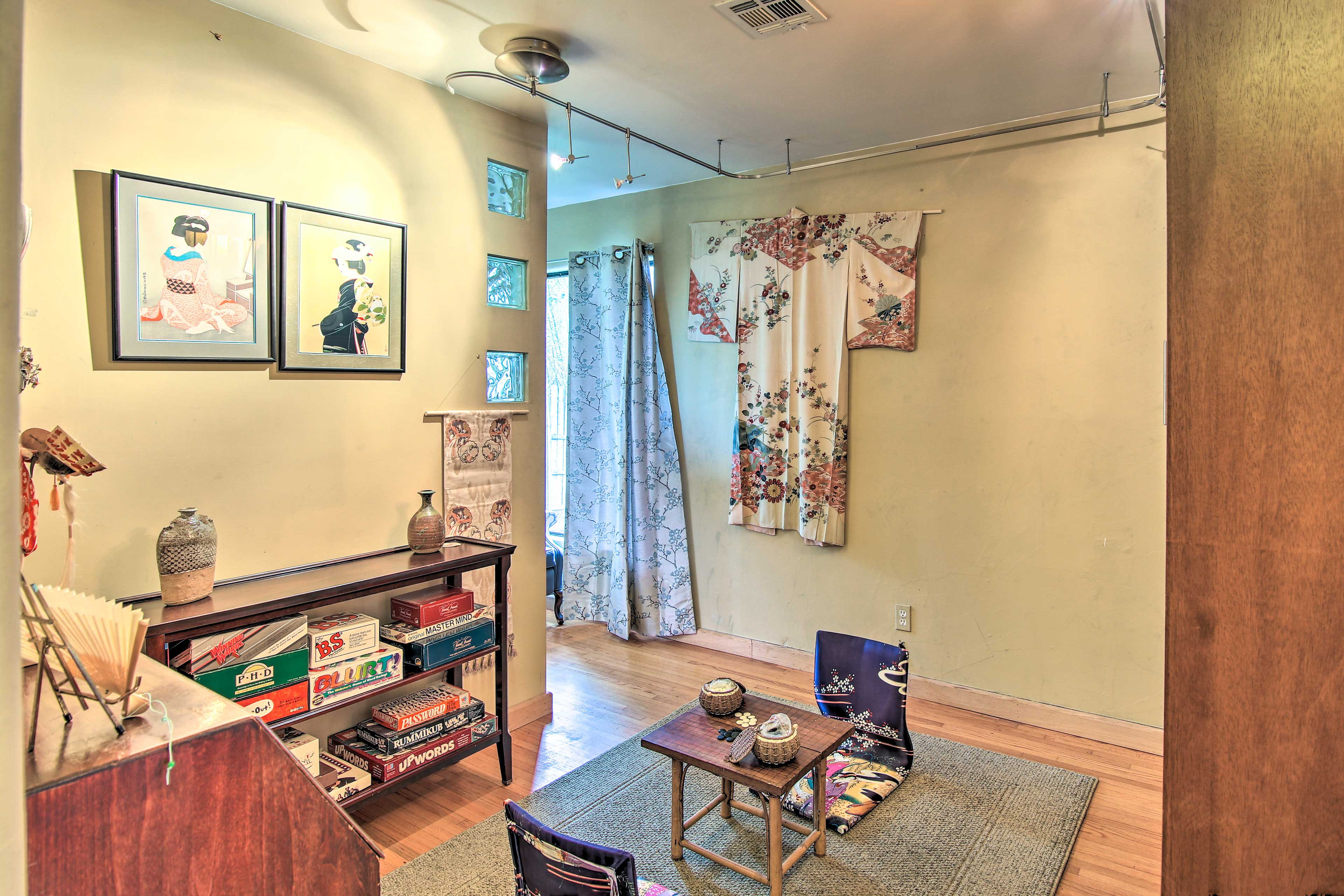 Gather in the game room to play traditional Japanese games.