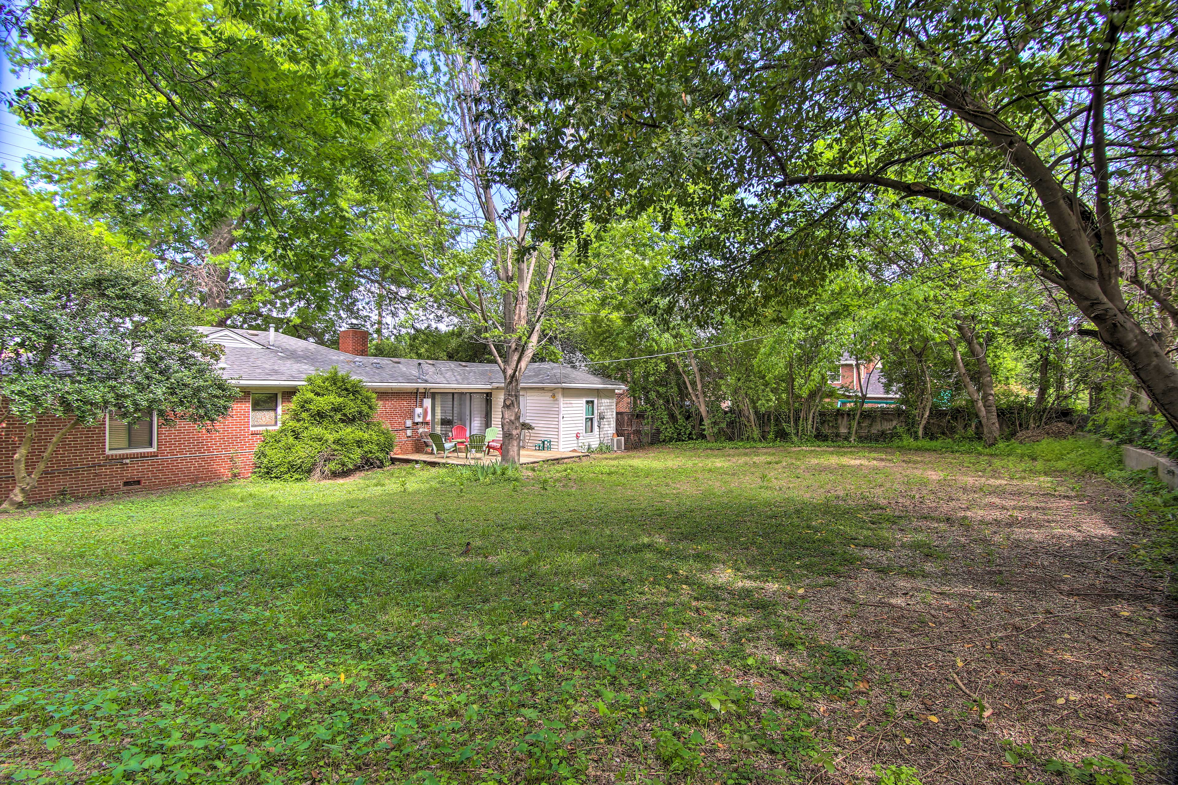 You'll love the expansive fenced-in yard.