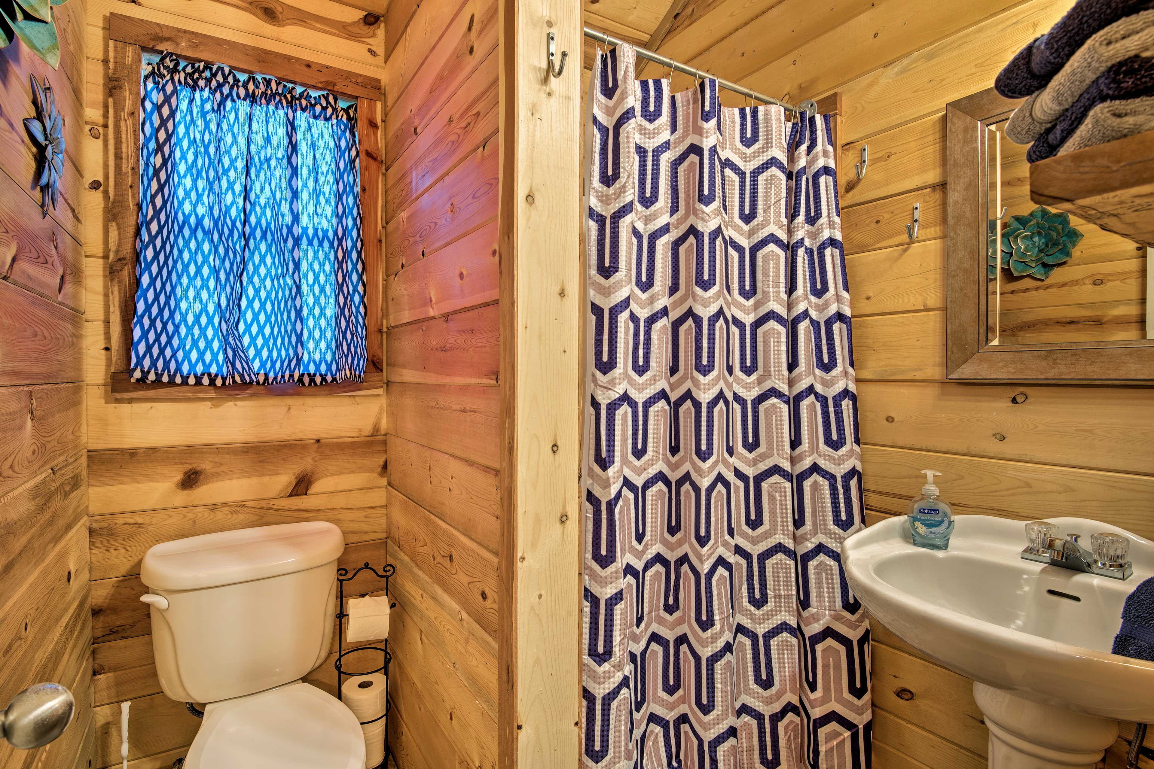 The game room also features its own full bathroom.